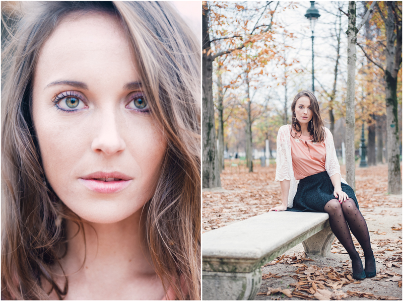 Fall is the perfect season to have an authentic photo shoot in Paris, portrait of Sarah by Tim Moore Paris photographer