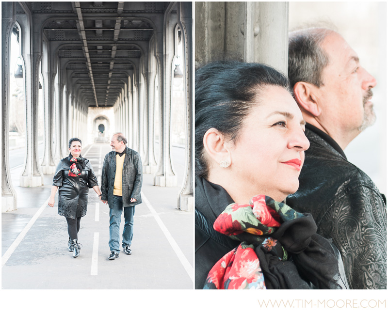 Morgan and Saab have been together for decades and decided to have a very special photo shoot in Paris with Tim Moore.