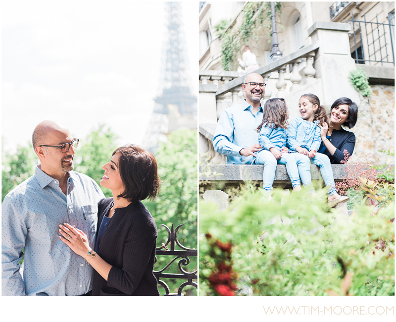 Family time in a little parisian street not far away from the Eiffel Tower. Great time during this photo shoot in Paris.