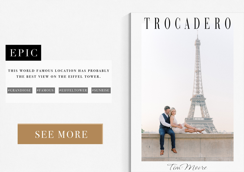 Paris Photographer - Tocadero Location world famous for its epic view on the Eiffel Tower