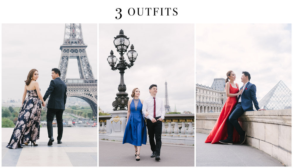 Photographer in Paris - Tim Moore sharing example of a photo session involving 3 different outfits in paris