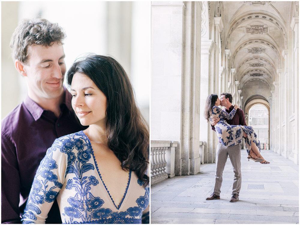 Paris Photographer Couple at the Louvre