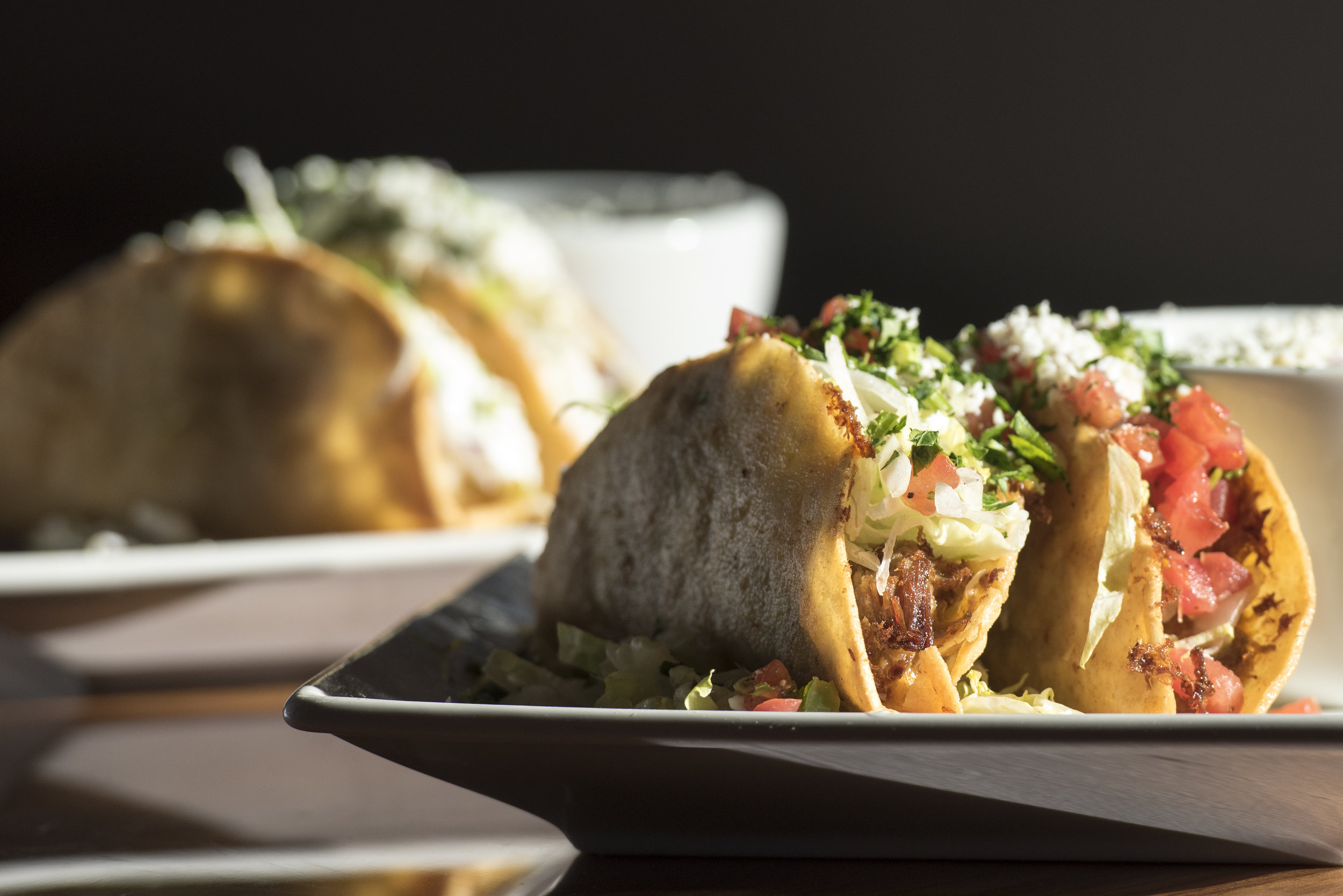 Crispy Beef Tacos and Crispy Vegetarian Tacos