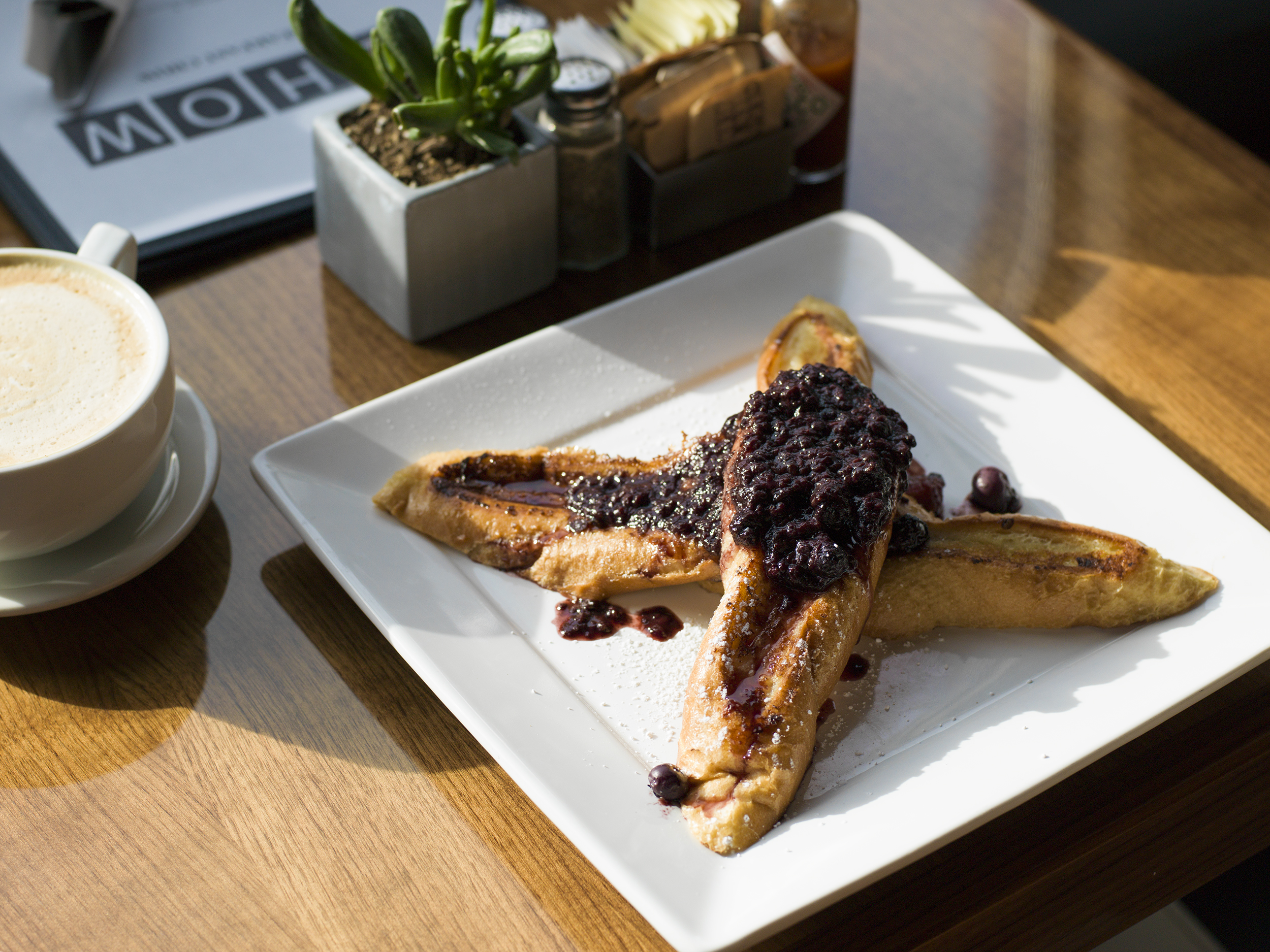 Chow French Toast with Berry Compote