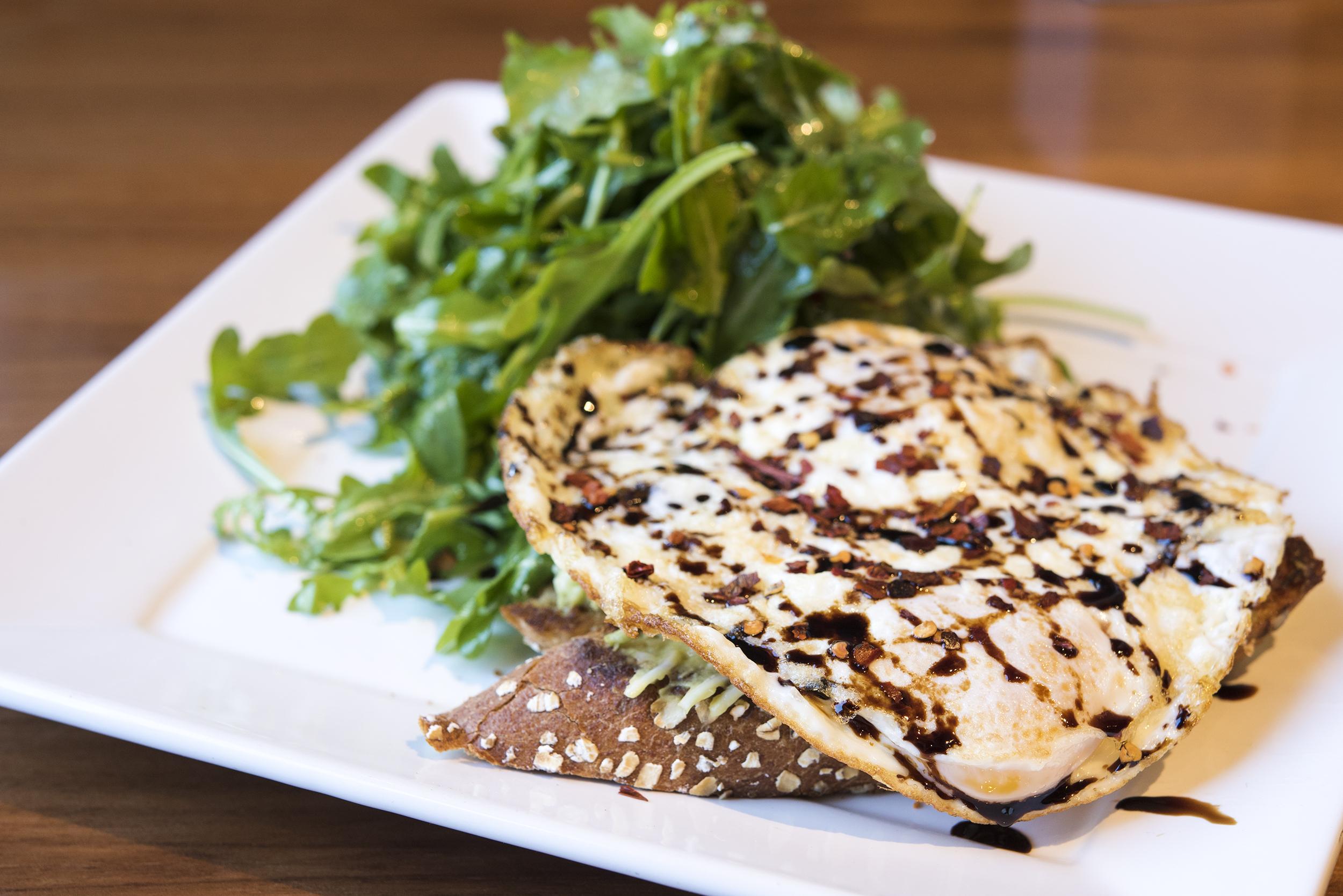 AvoToast and Arugula Salad