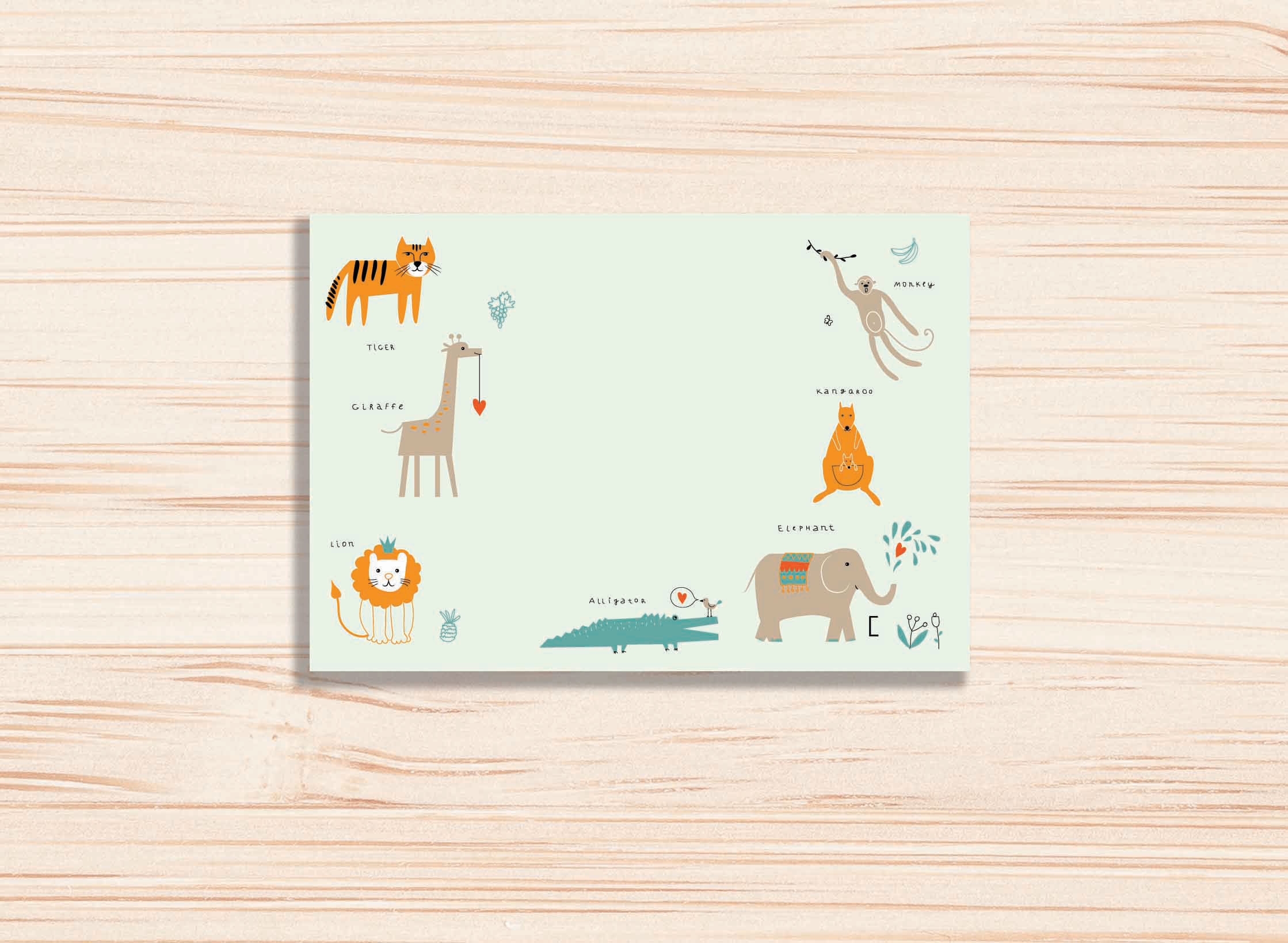 ANIMALS GIFT CARD