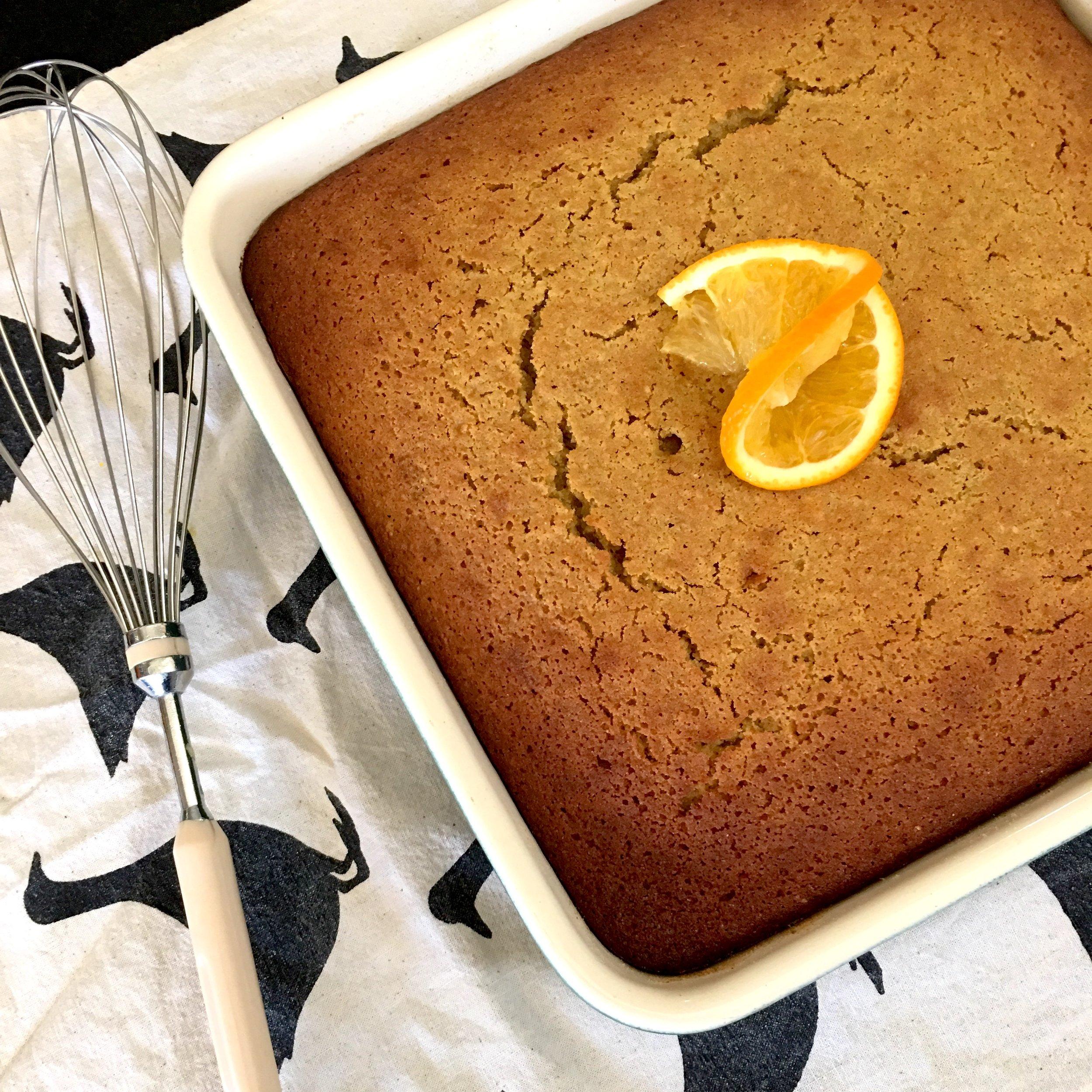 Olea of Monemvasia/Extra Virgin Olive Oil/Recipes/Gluten-free Orange, Olive Oil, Hoeny and Almond cake