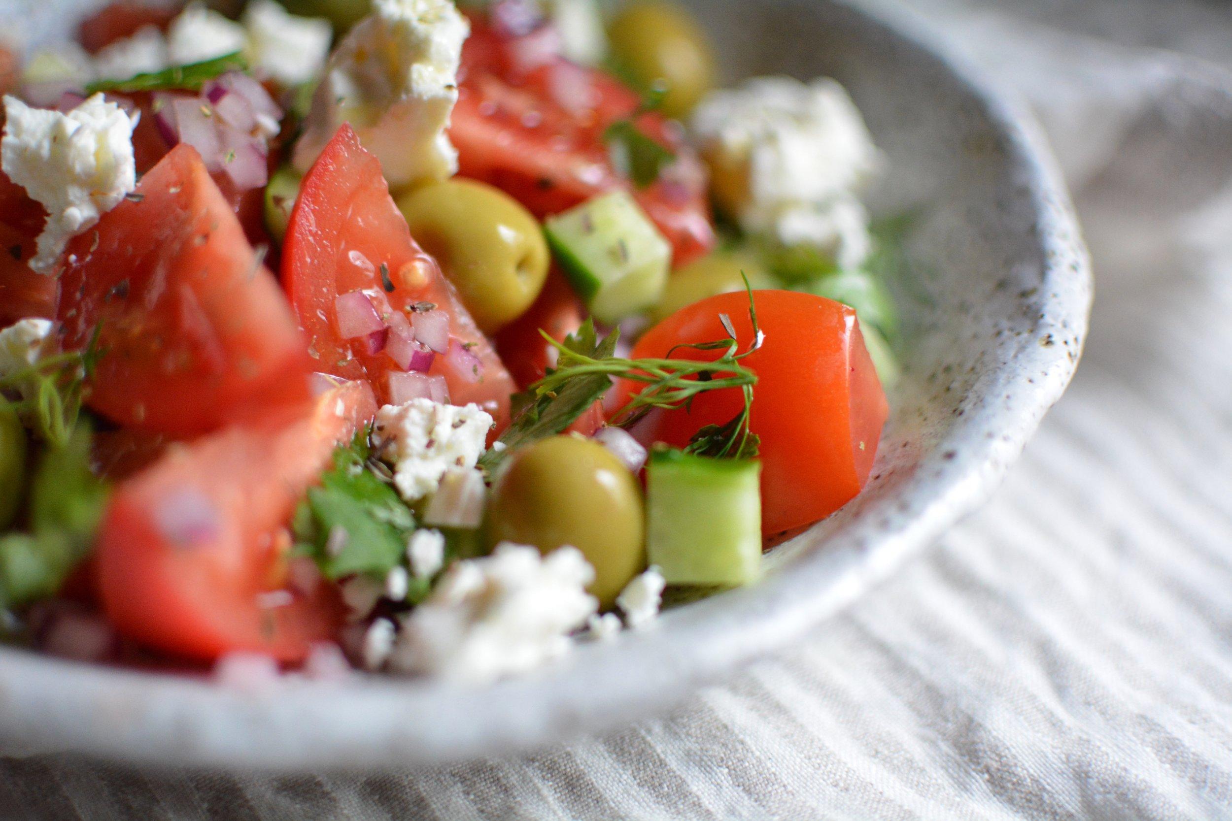 Greek Salad Recipe | Olea of Monemvasia