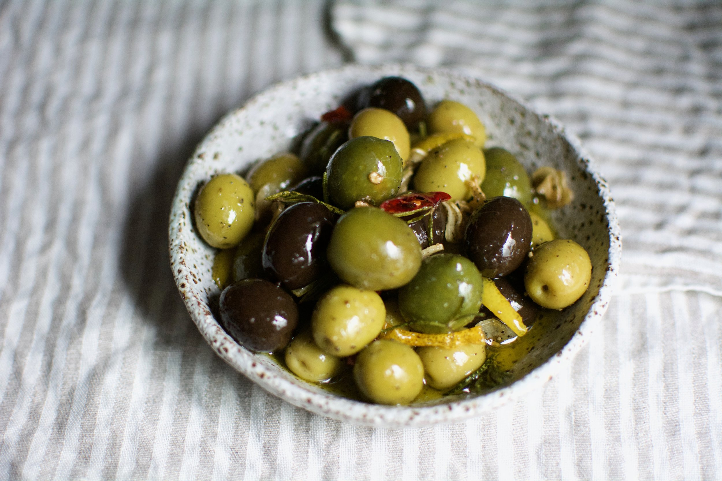 Warm Marinated Olives   Healthy Recipes   Olea of Monemvasia