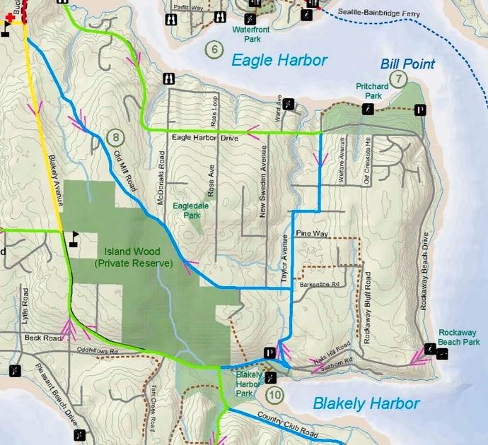 Port Blakely, Bill Poin, Eagledale Map