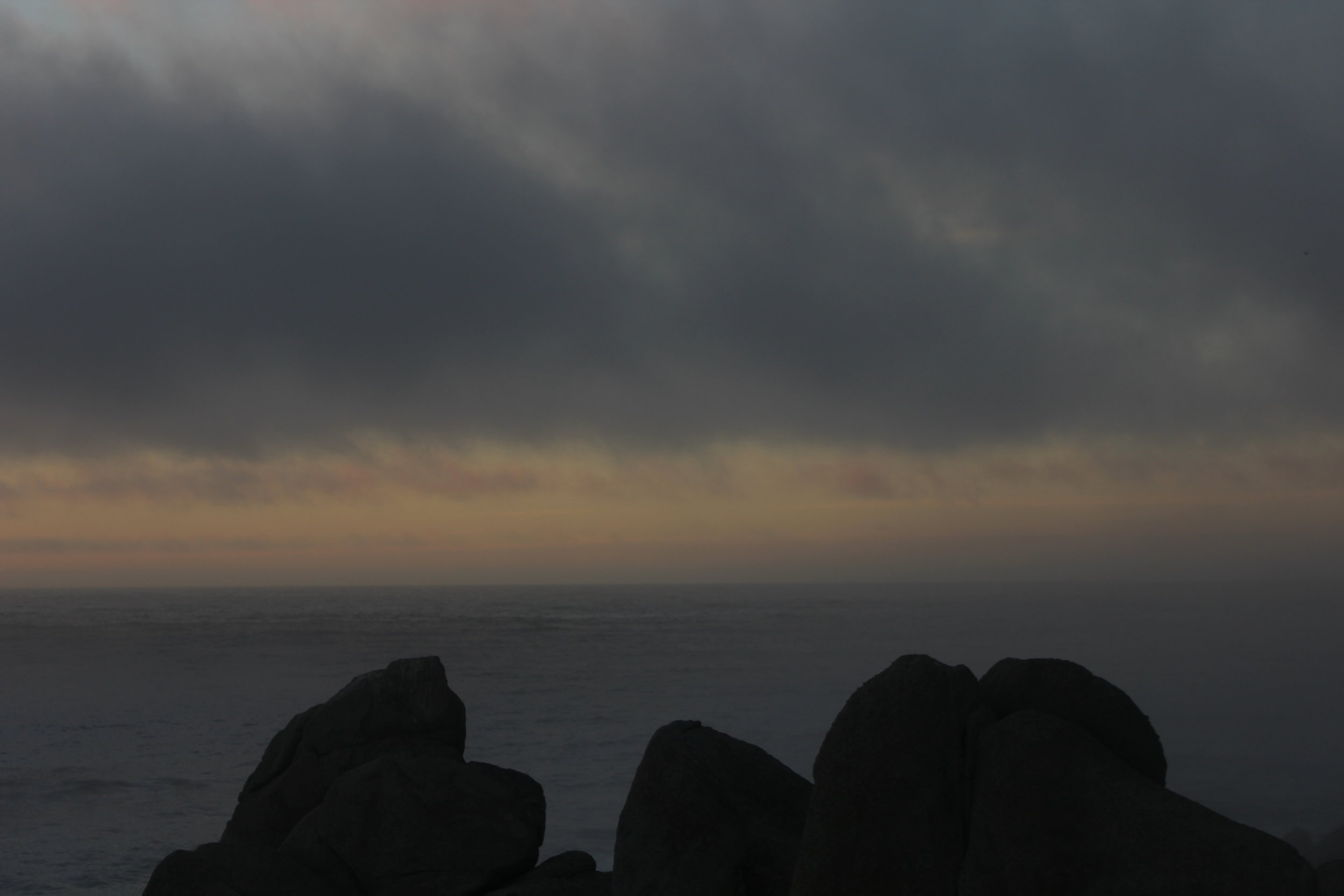 This is a raw un filtered photo. I visit during a cloudy day and I thought it was breath taking witnessing the sun kissing the ocean during sunset.