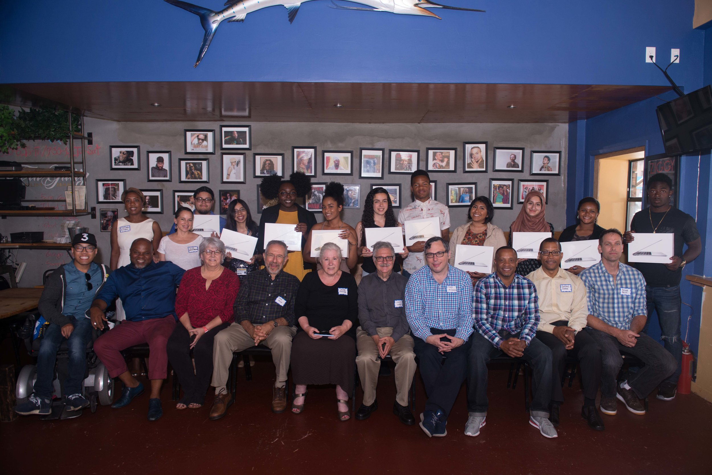 The 2017 fellows celebrate with Fluegelman Bunnell advisors, managers, and alumni at the June 24 award luncheon at Kingston 11 in Oakland.  Photo by  Kola Shobo