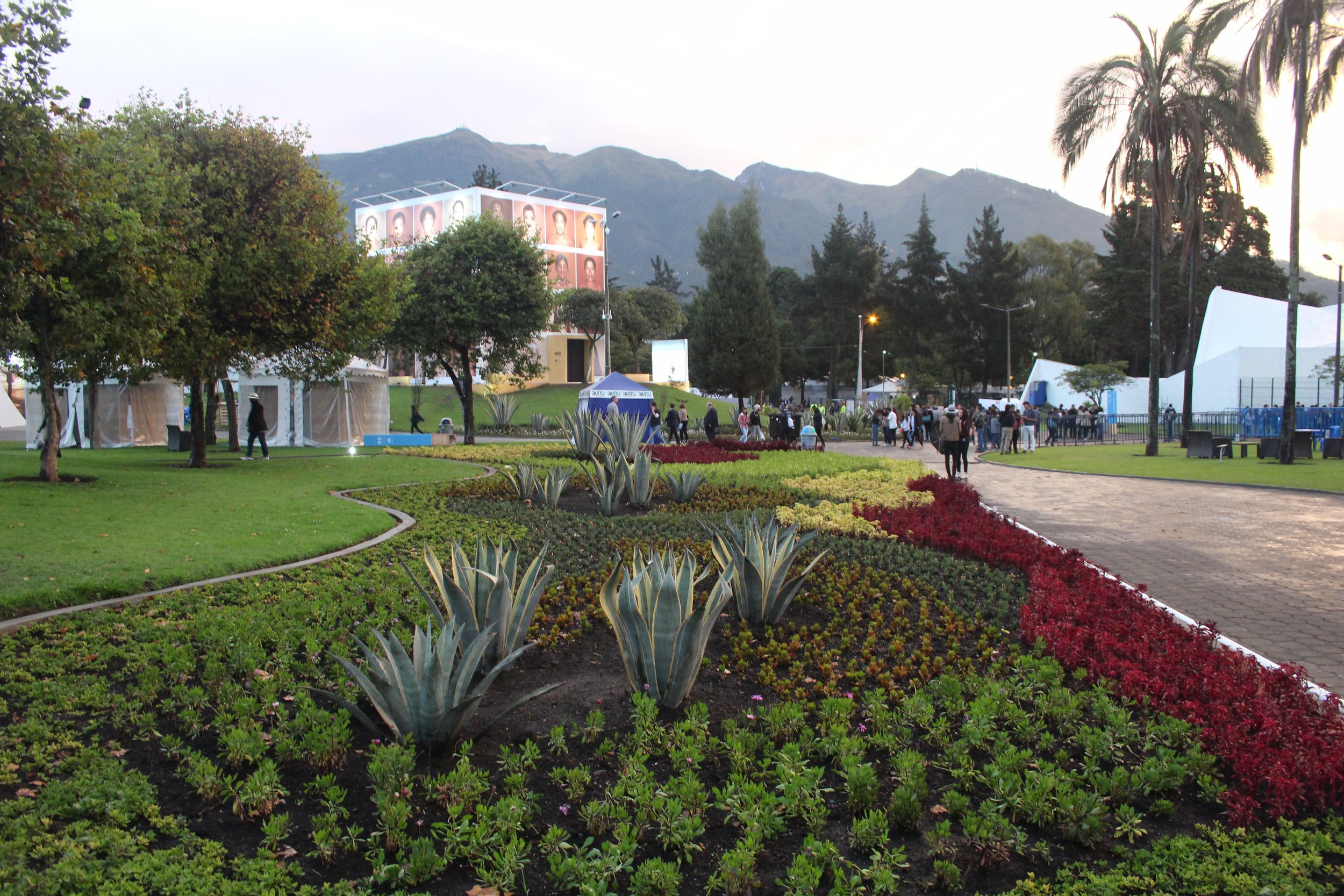 The Habitat 'Village' set up as part of the Habitat III conference.