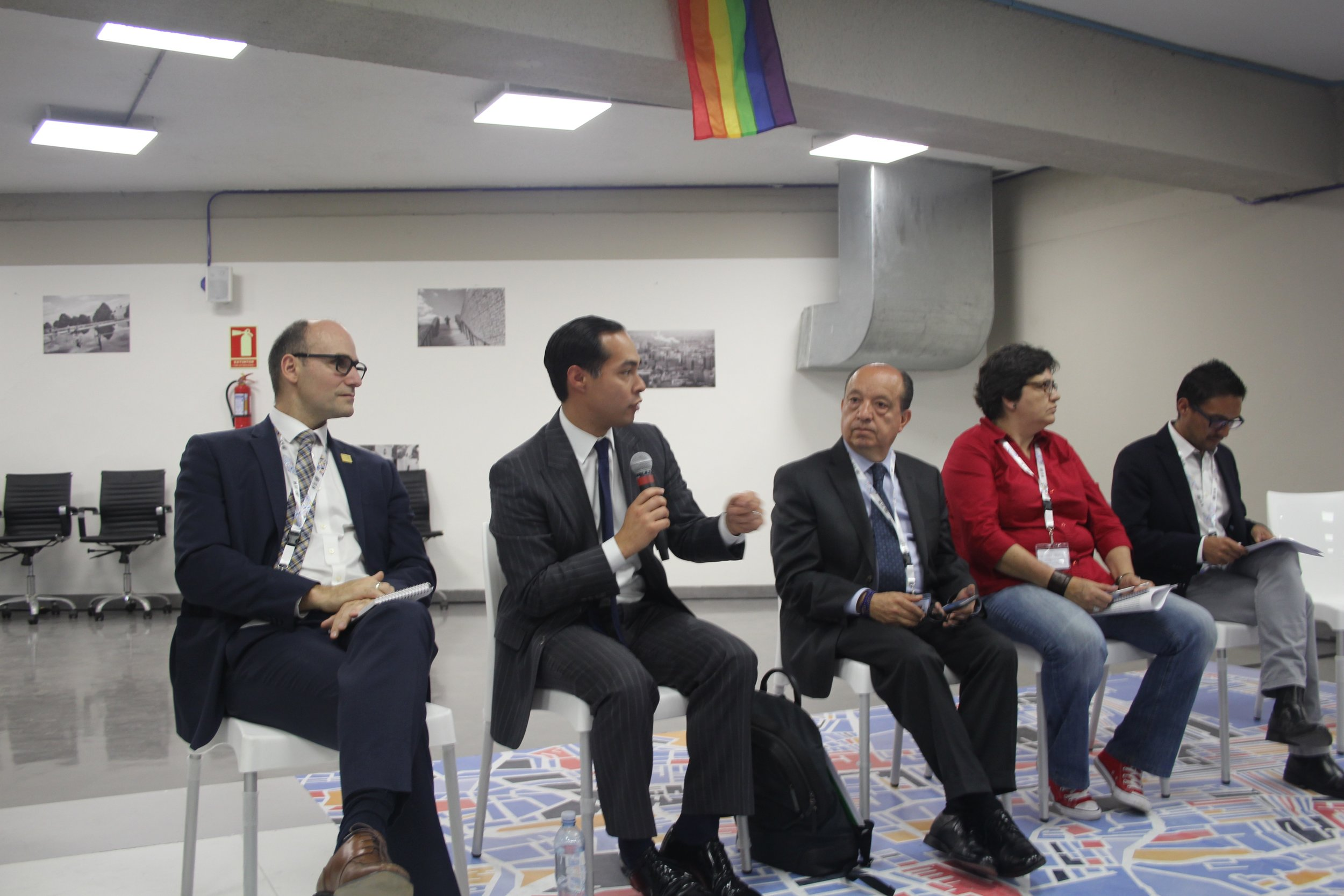A panel on LGBT inclusion in the New Urban Agenda.
