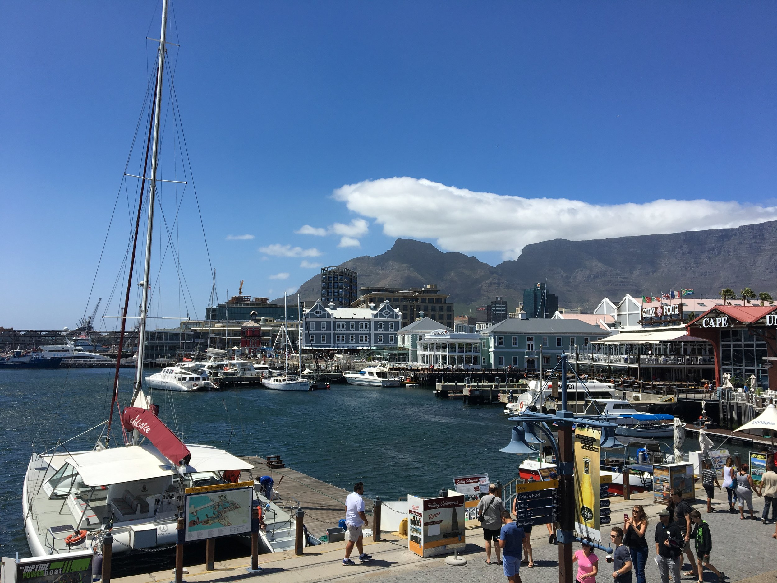 The Victoria & Alfred Waterfront in Cape Town.