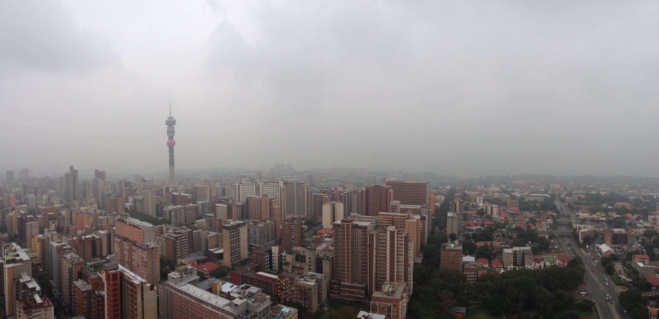 The inner-city suburbs of Hillbrow and Berea in Johannesburg.