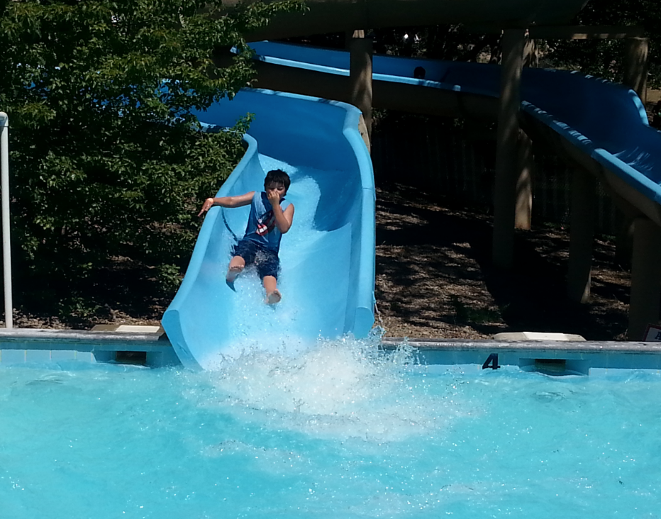 Waterslide at Emigrant Lake