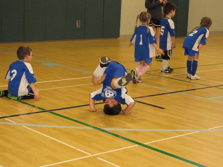 Ilias playing soccer. Lol.