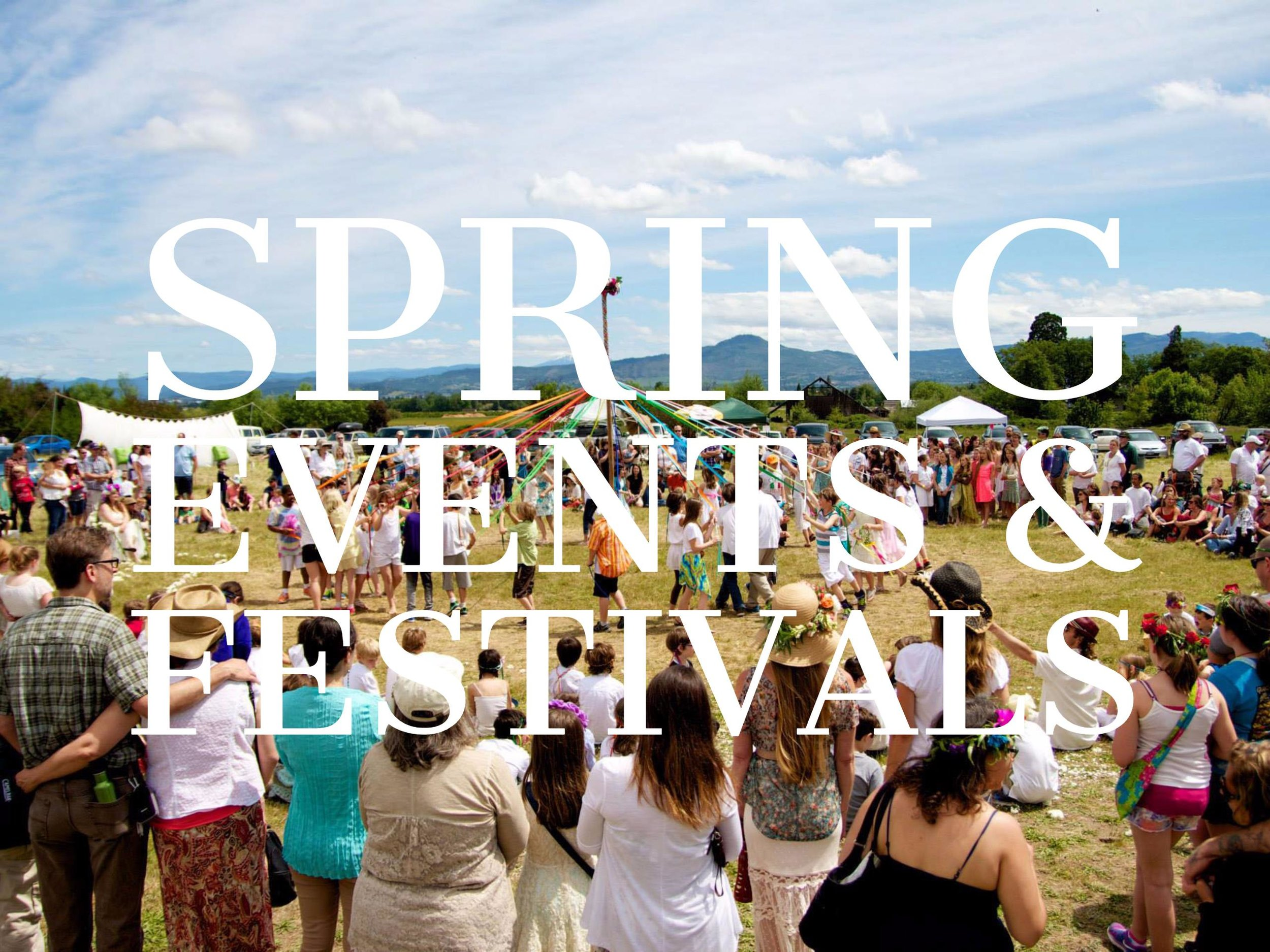SPRING FESTIVALS & EVENTS
