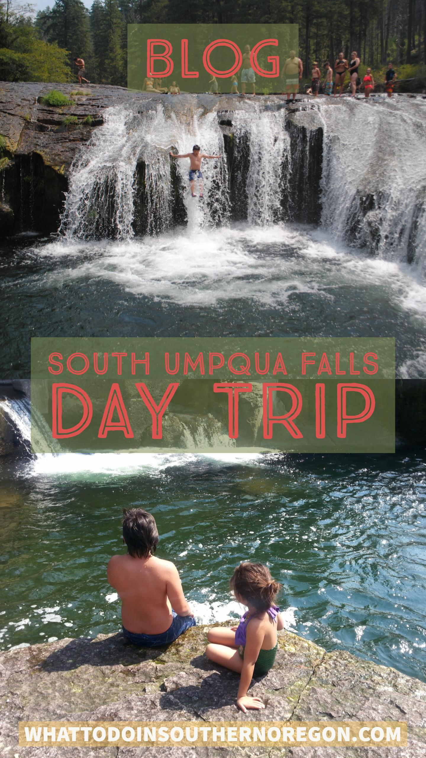 SOUTH UMPQUA FALLS NATURAL WATER SLIDES - What to do in Southern Oregon - Kids Fun - Outdoor Adventures