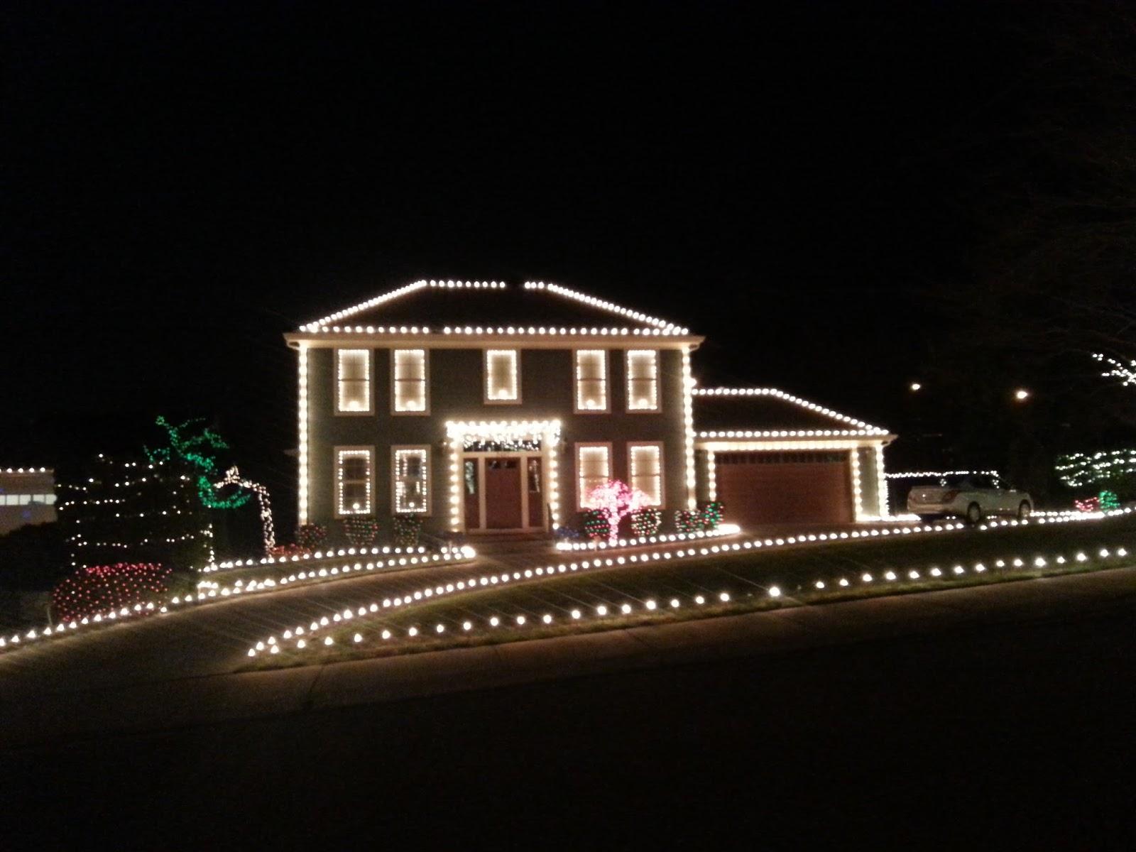 CHRISTMAS LIGHTS TRAIL THROUGH THE