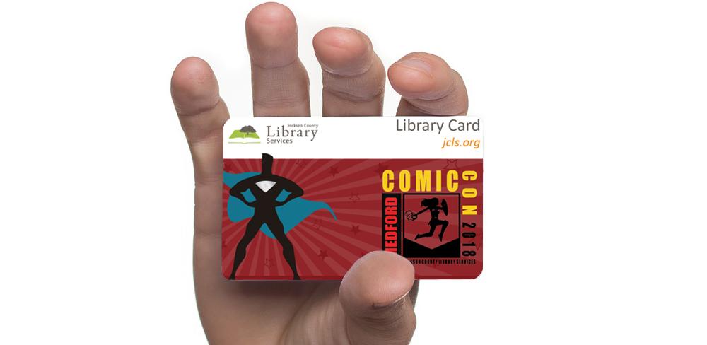 Medford Comic Con Library Card