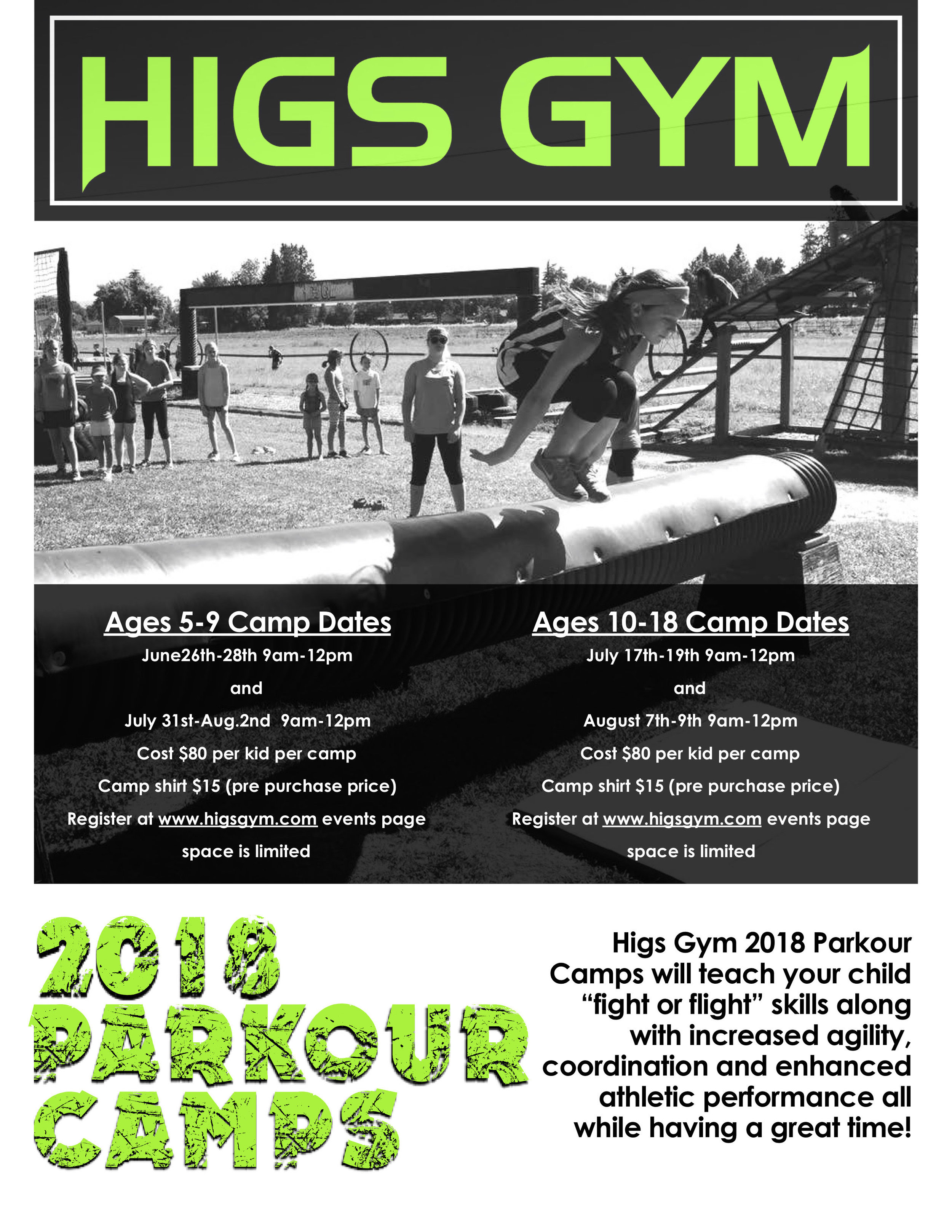 HIGS GYM - Summer Camps - What to do in Southern Oregon