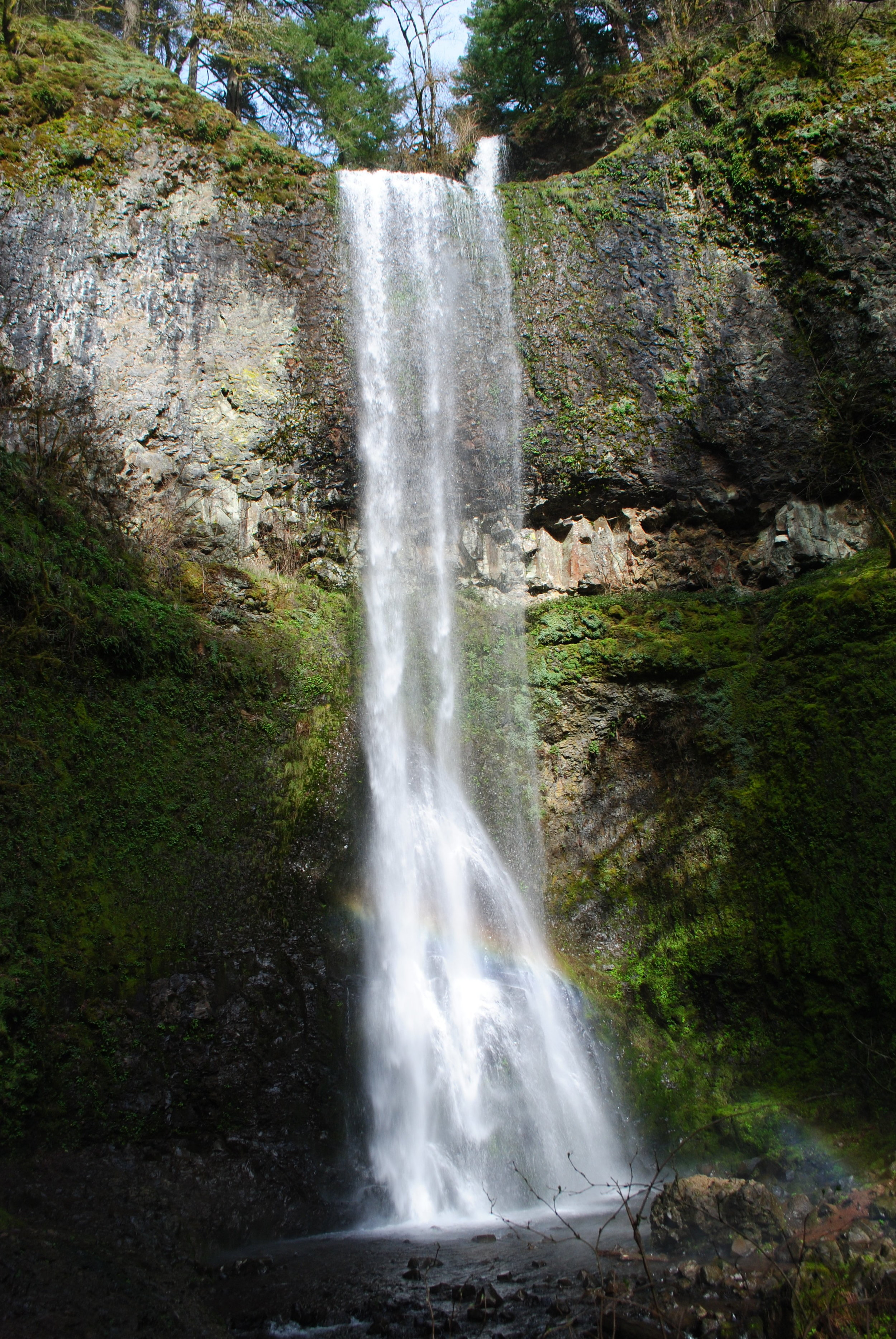 SILVER FALLS STATE PARK - Double Falls - Oregon