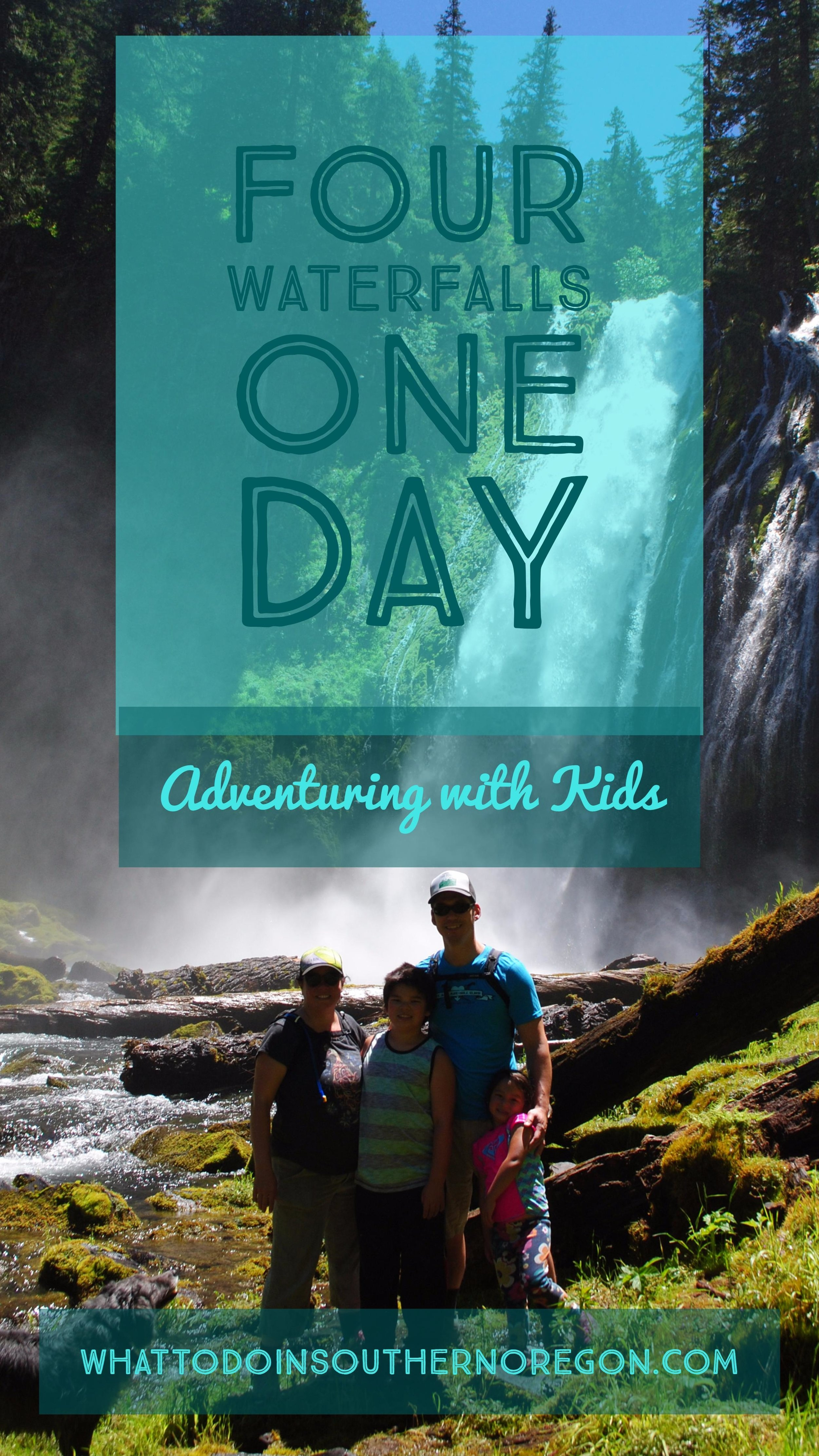 FOUR WATERFALLS, ONE DAY - HIKING ADVENTURES WITH KIDS - What to do in Southern Oregon - Things to do - Douglas County - Lemolo Falls - Warm Springs Falls - Clearwater Falls - Whitehorse Falls