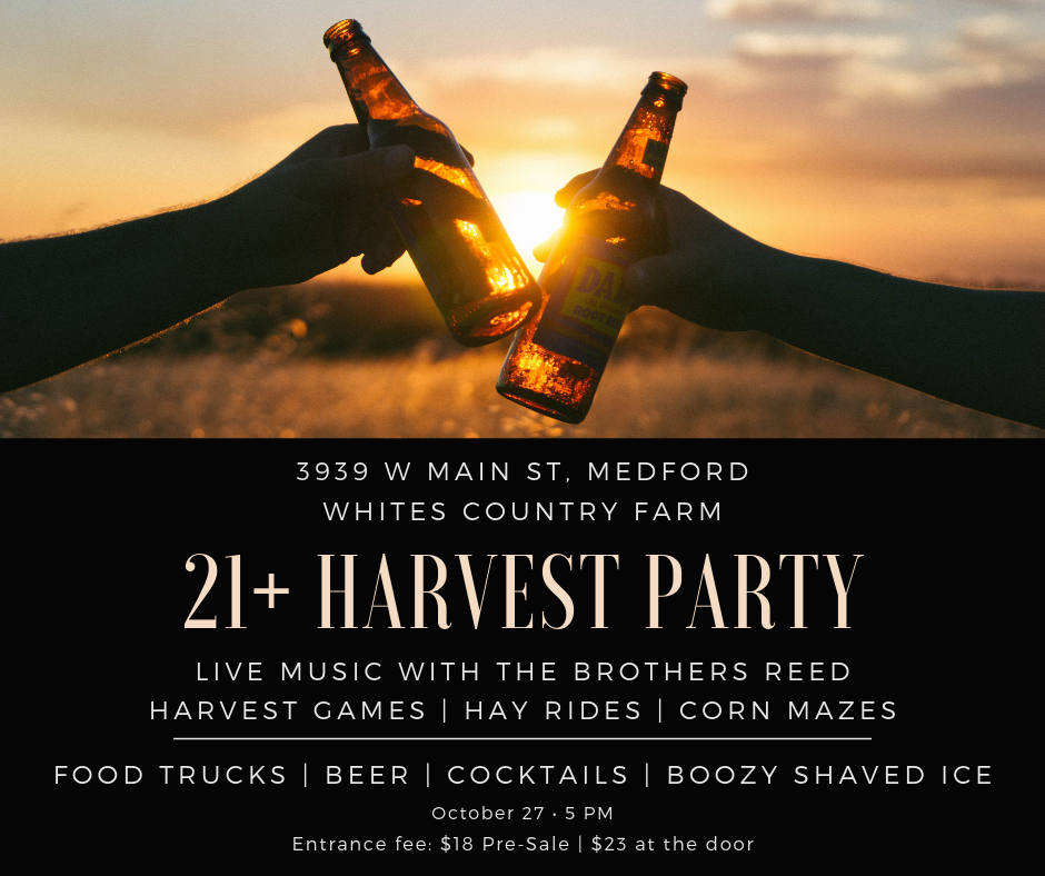 21+ HARVEST PARTY AT WHITES COUNTRY FARM