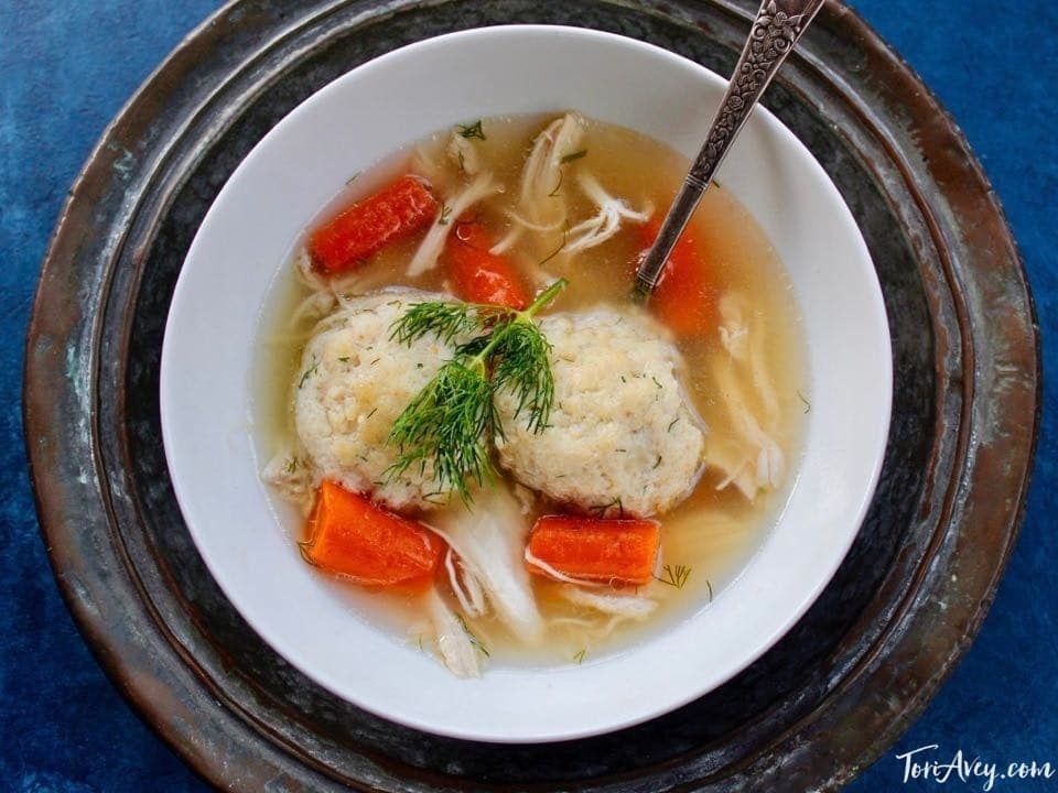 From Tori Avey: My Favorite Chicken Soup with 3 Matzo Ball Recipes