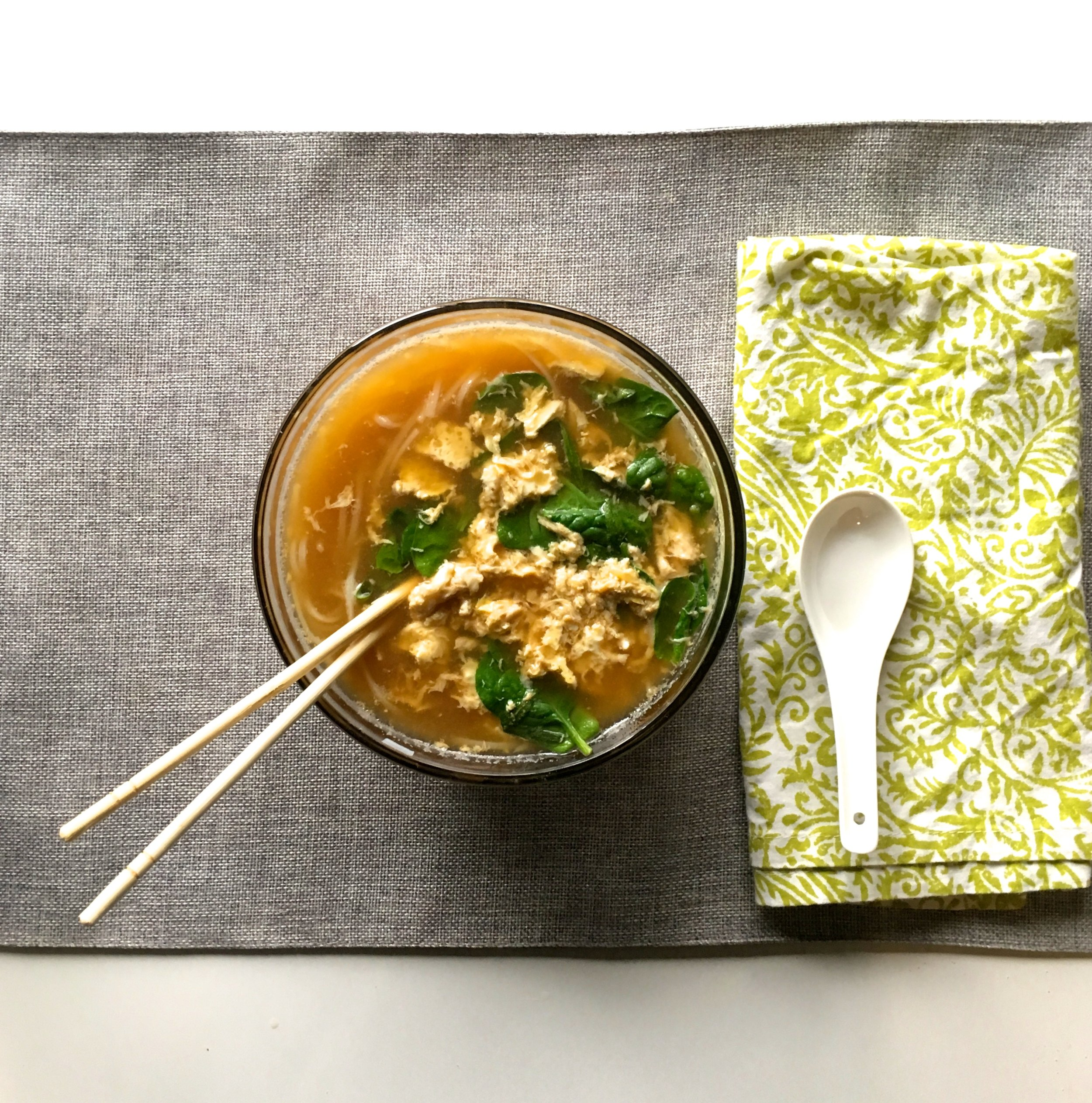 Easy Asian Noodle Soup (3 steps!)