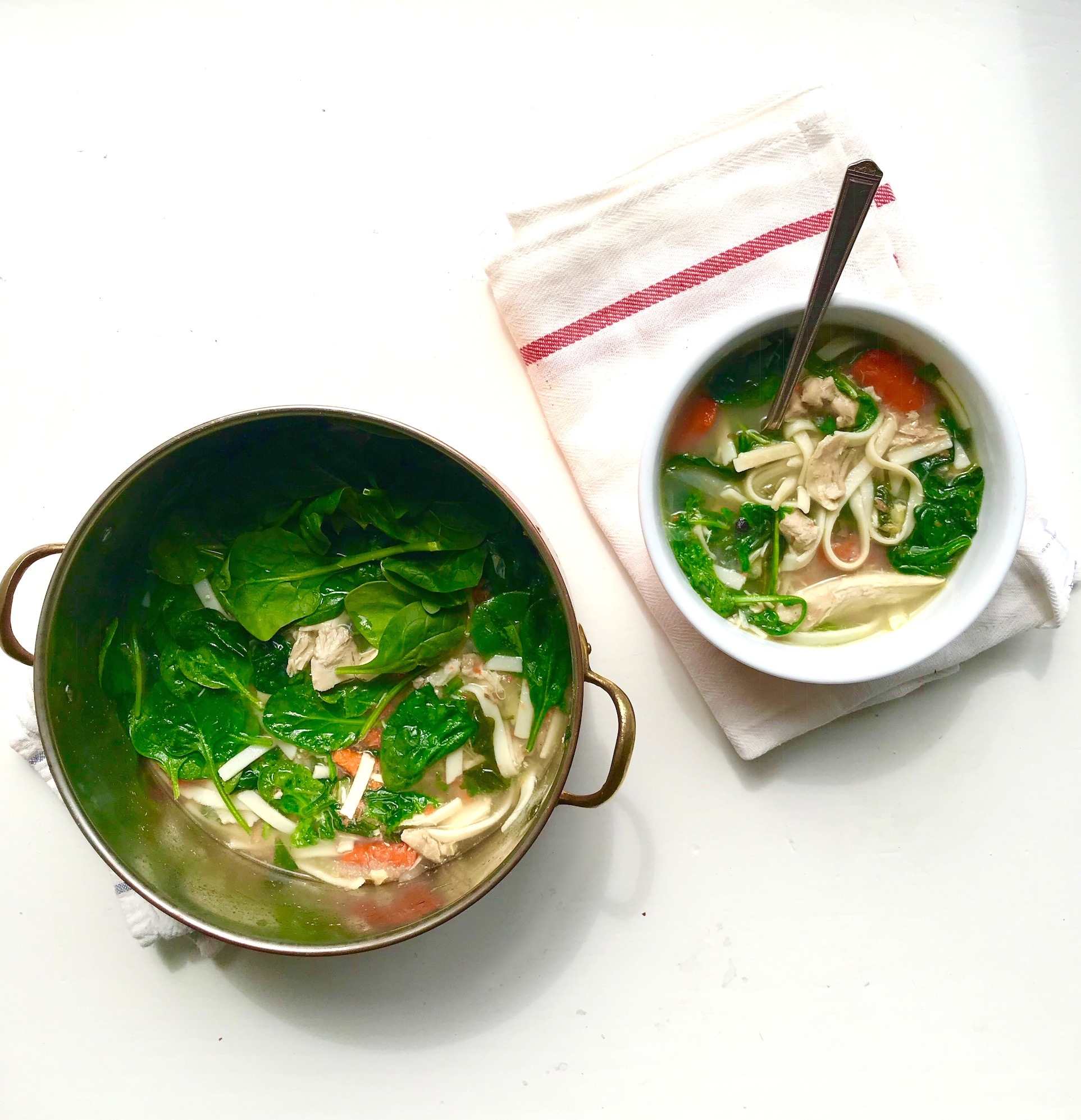 ANY soup + Spinach