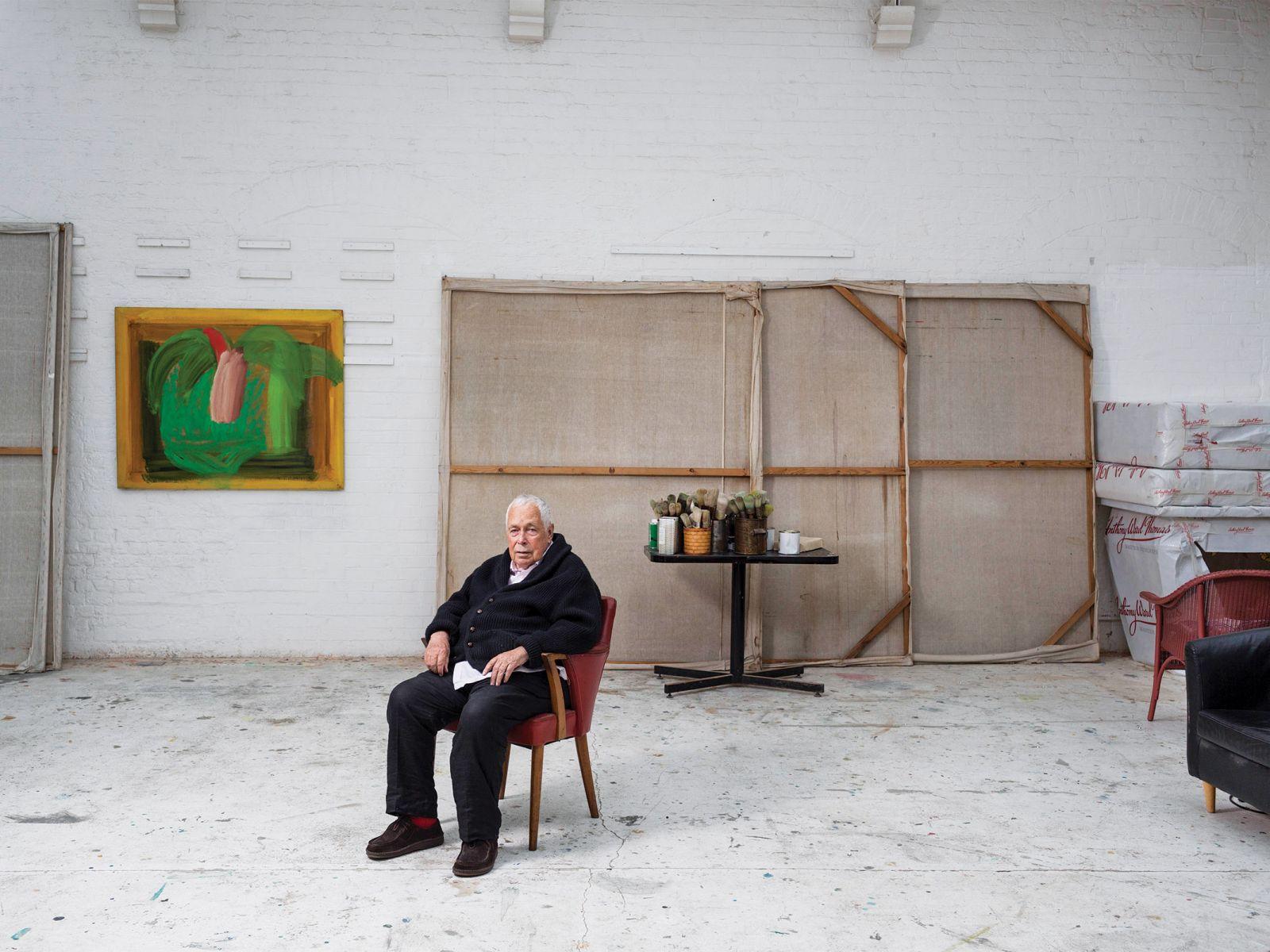 Howard Hodgkin in his London studio.