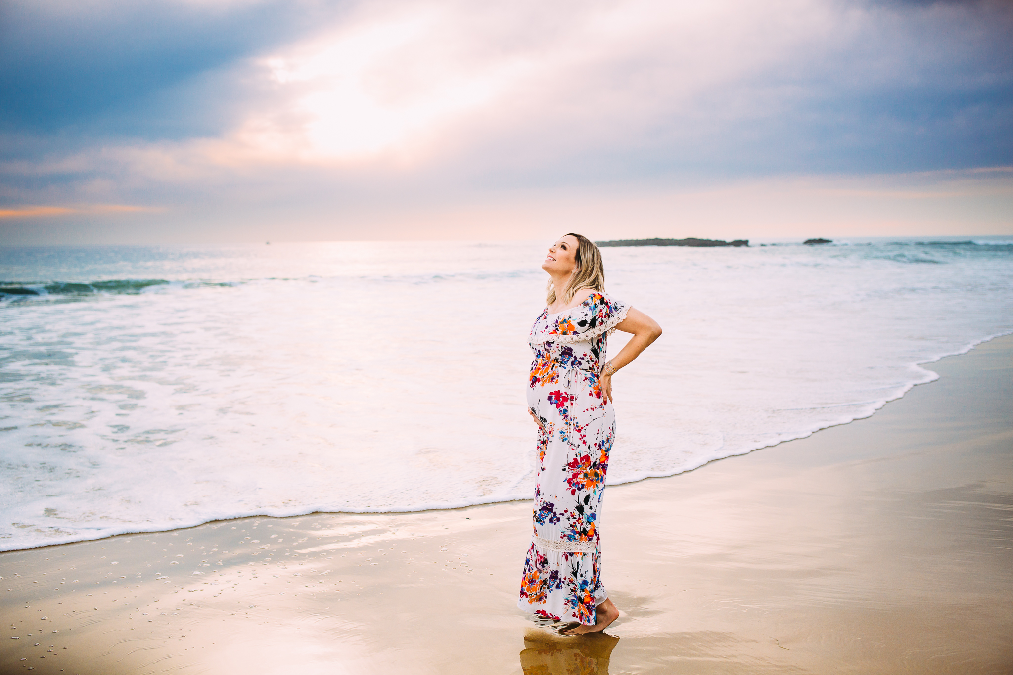 maternity photo session in newport beach orange county california