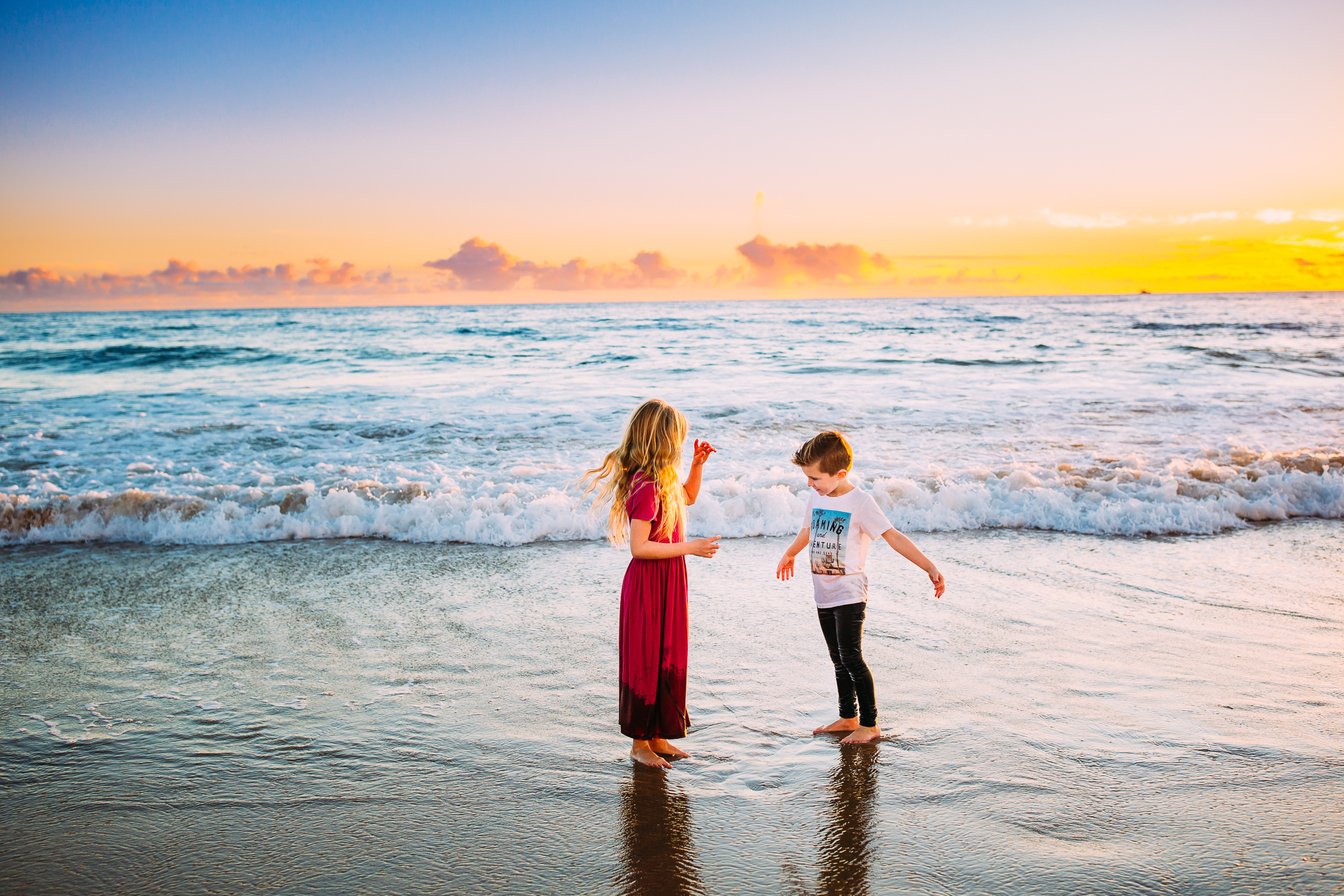 family photo session in Orange County at Newport Beach, California