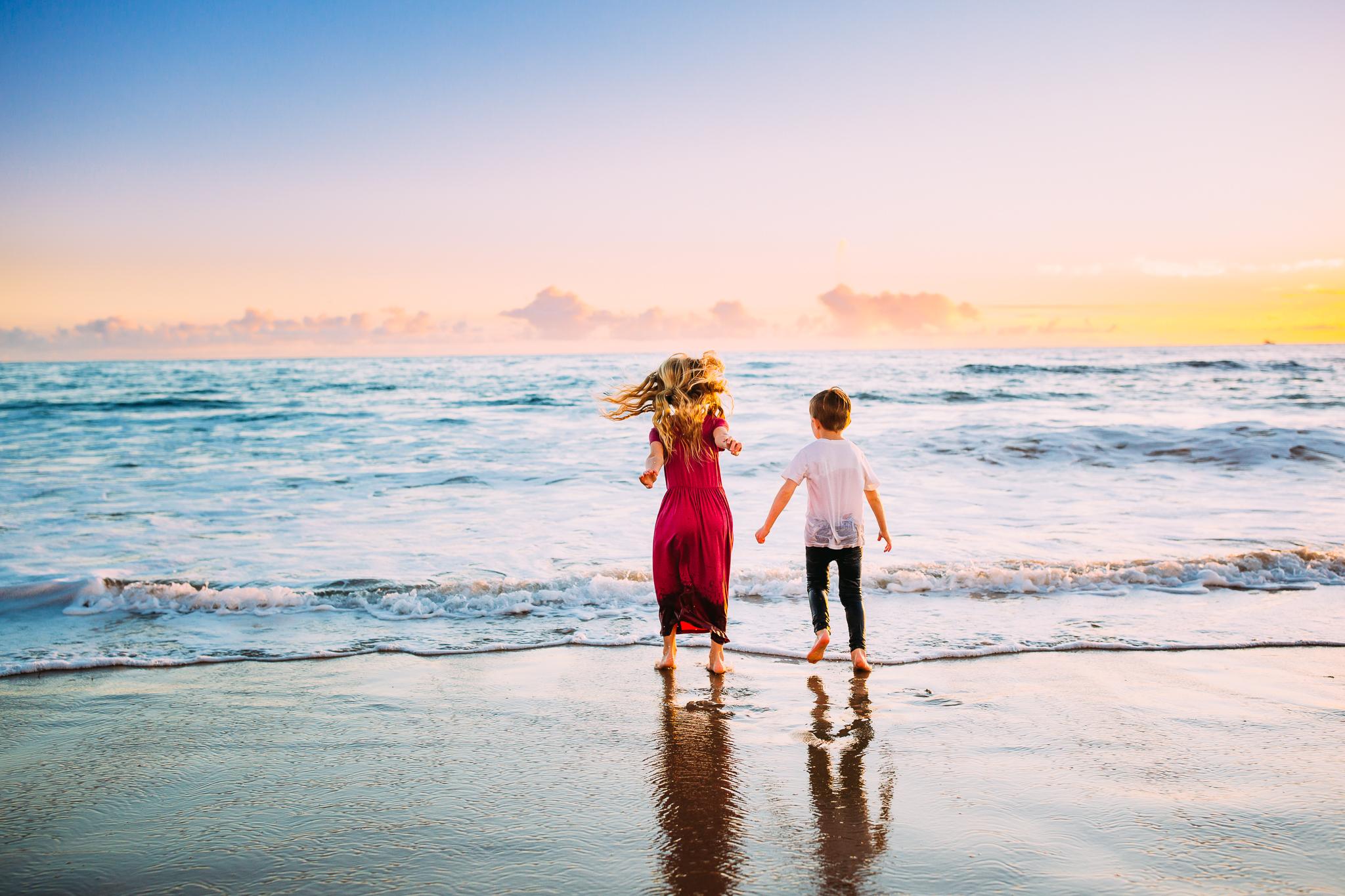 family photo session in Orange County at Newport Beach, California