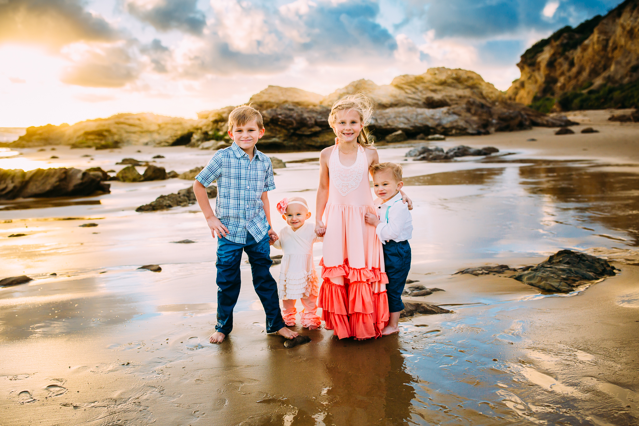 lifestyle family photoshoot in Newport Beach, Orange County, CA