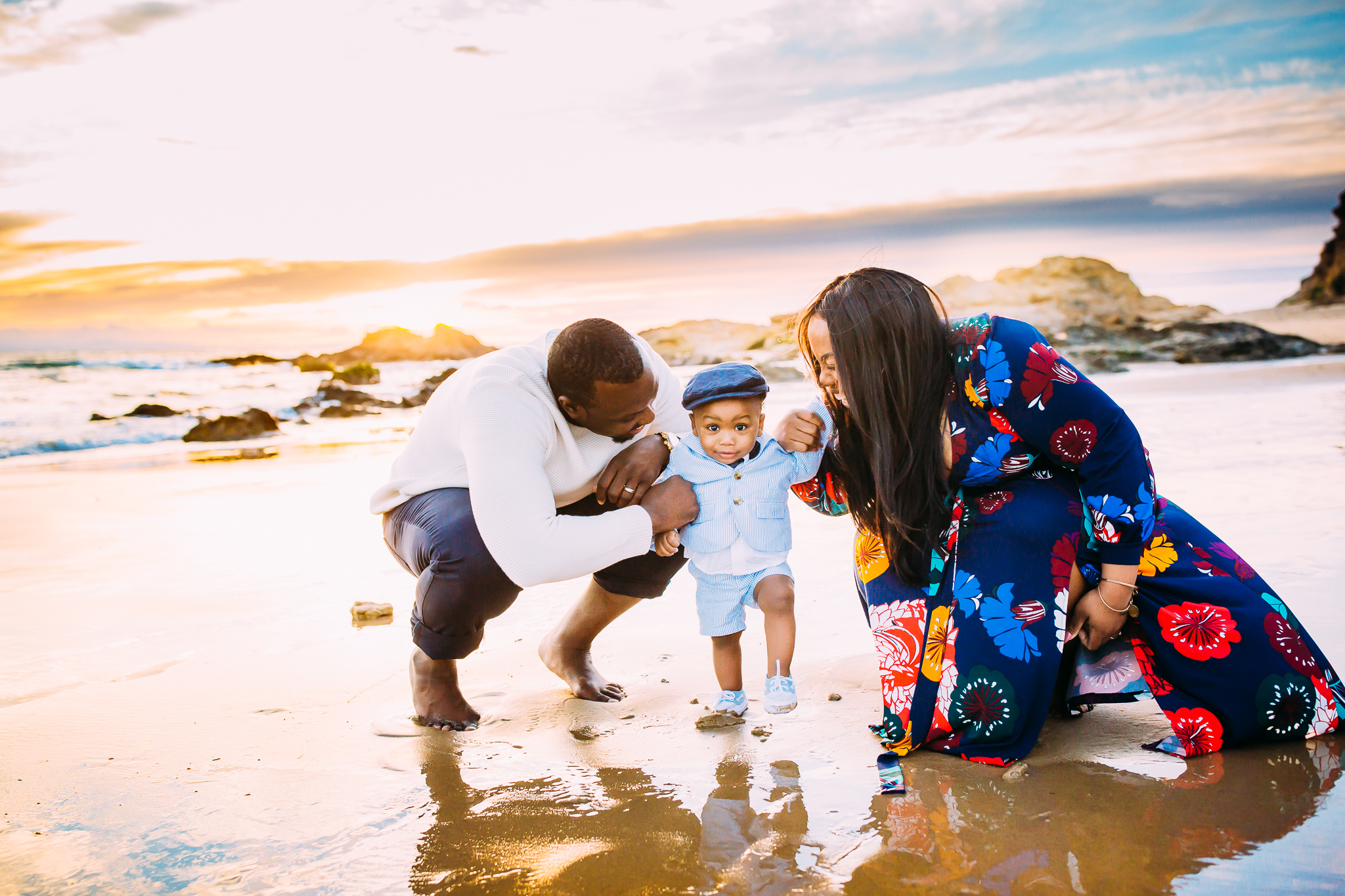 sunset family photography session in Newport Beach, Orange County, California