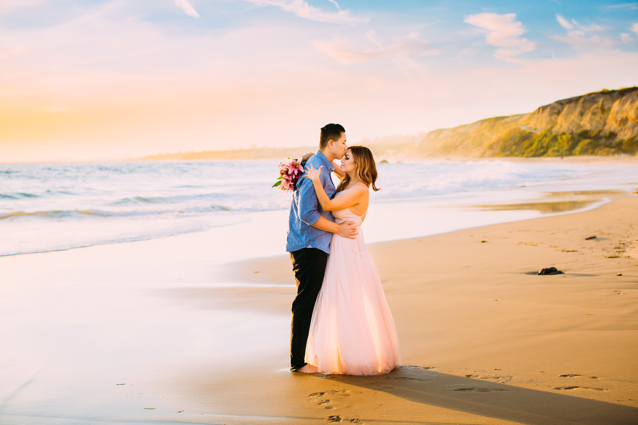 sunset engagement photos in Newport Beach, Orange County, CA