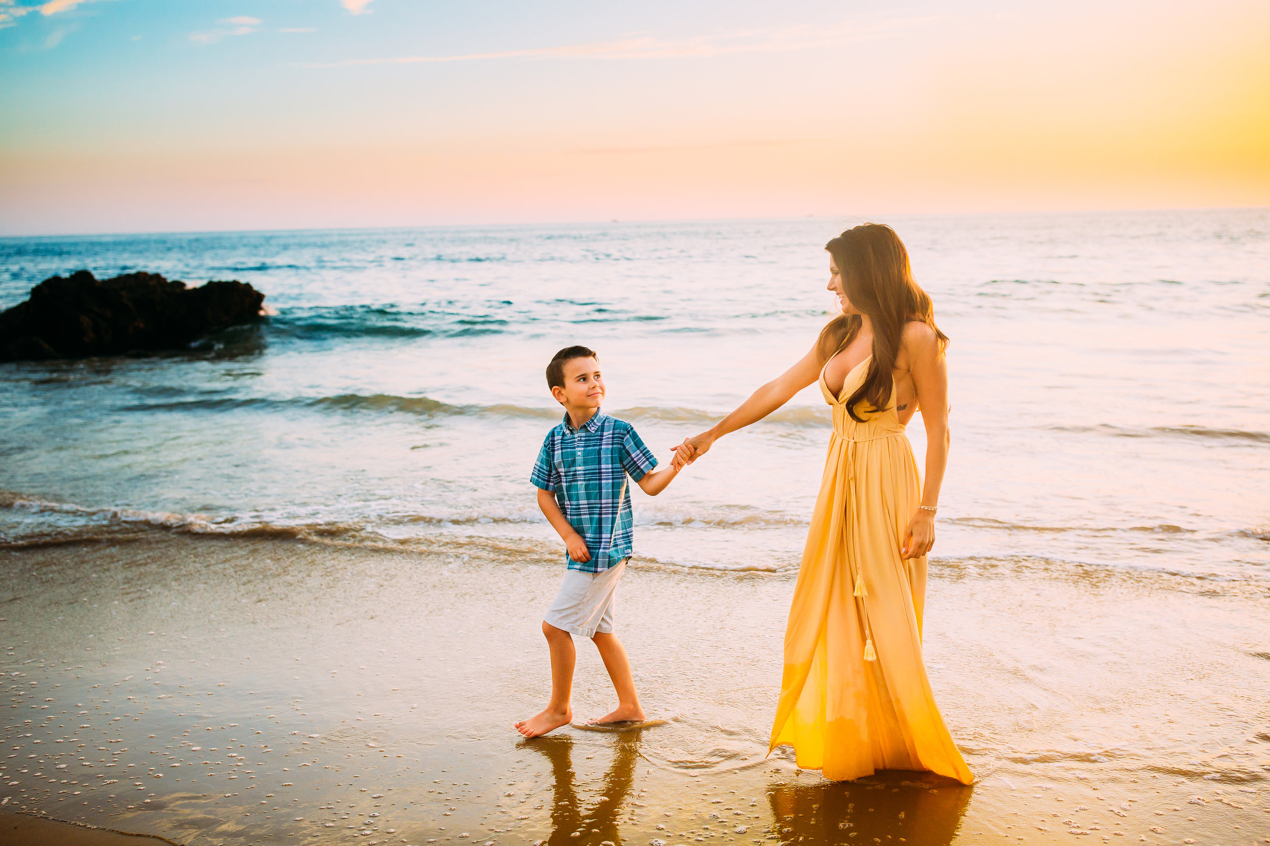 family beach photography session in Newport Beach, Orange County, CA