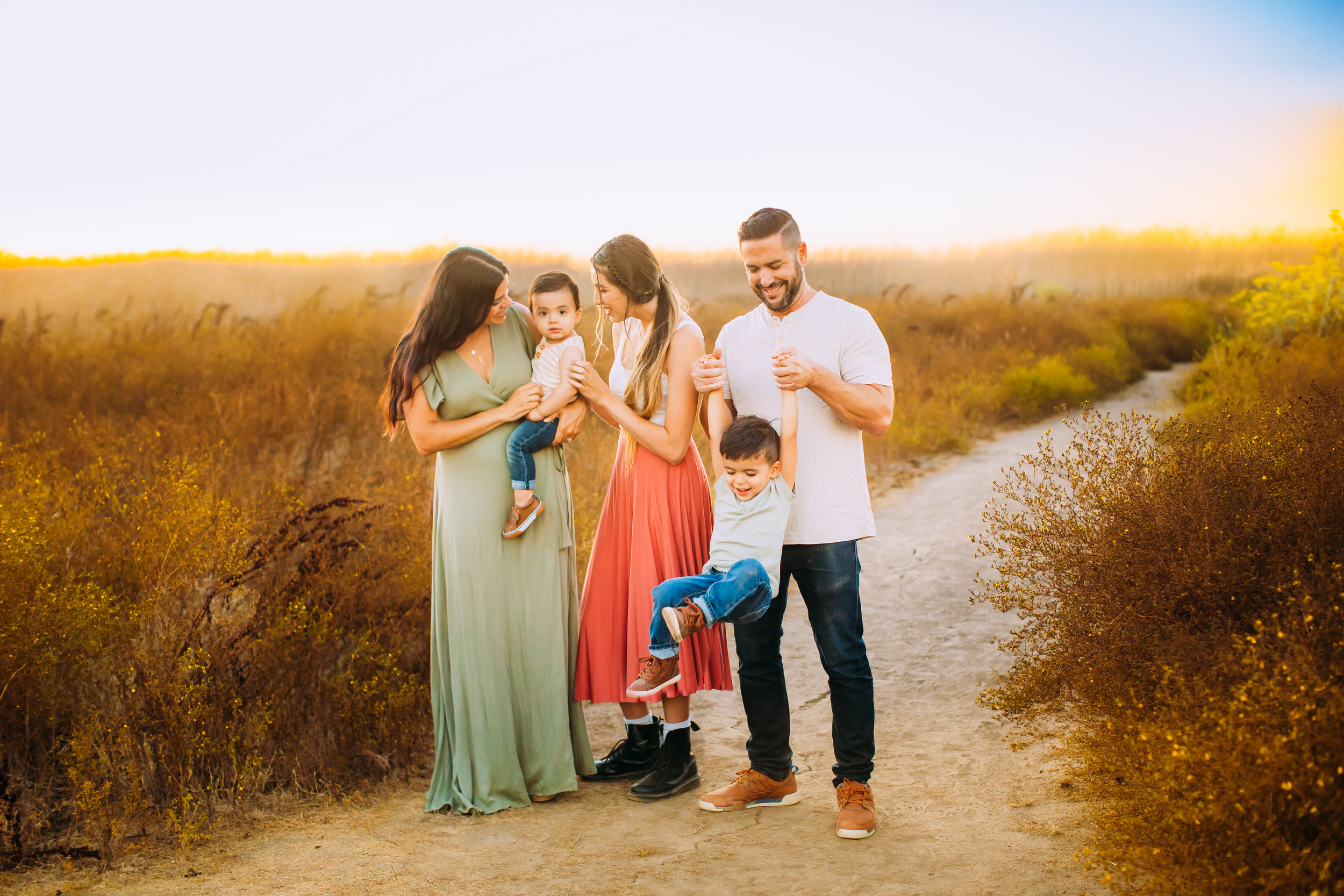 outdoor family photo session in Orange County, CA