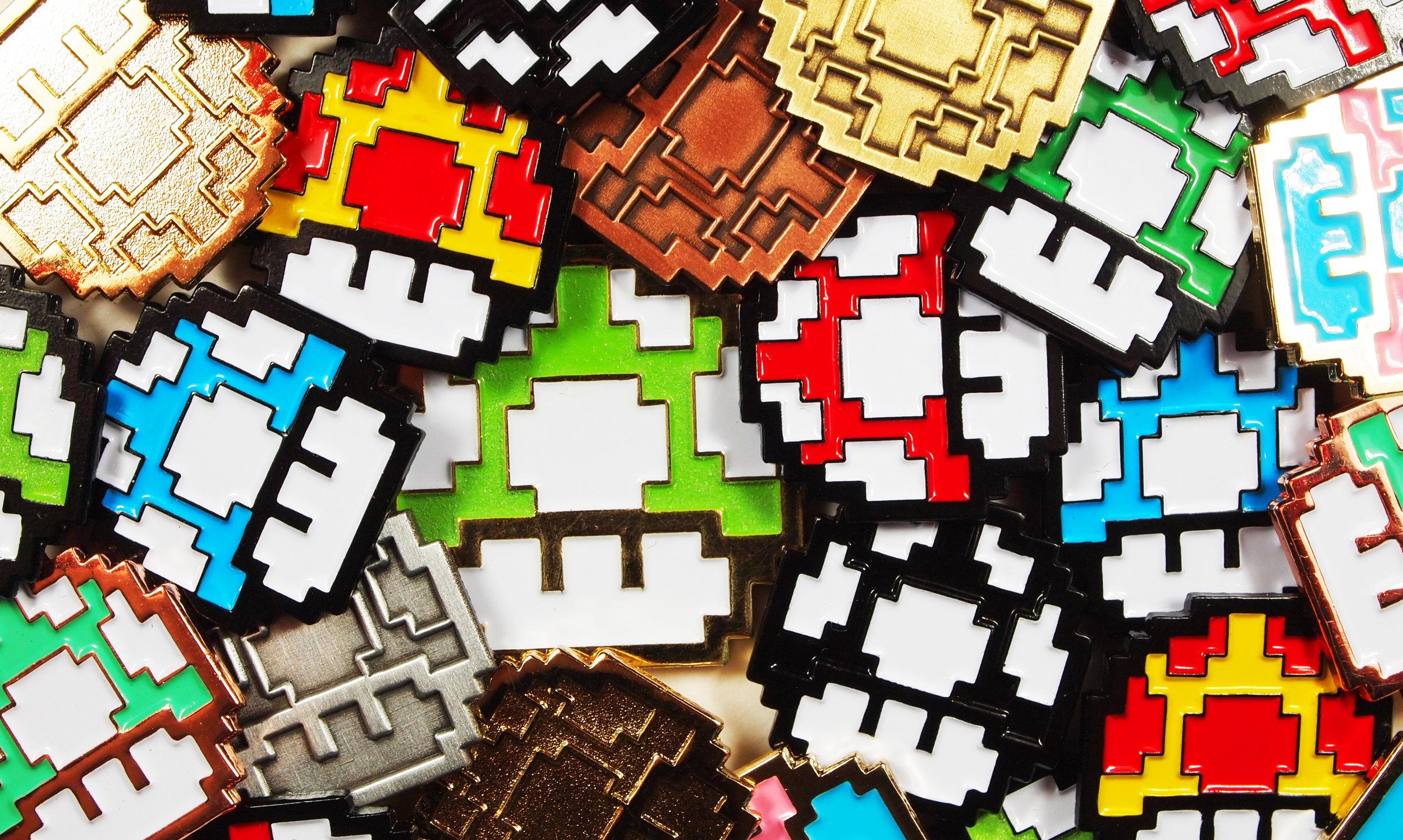 16-Bit Mushroom Pins