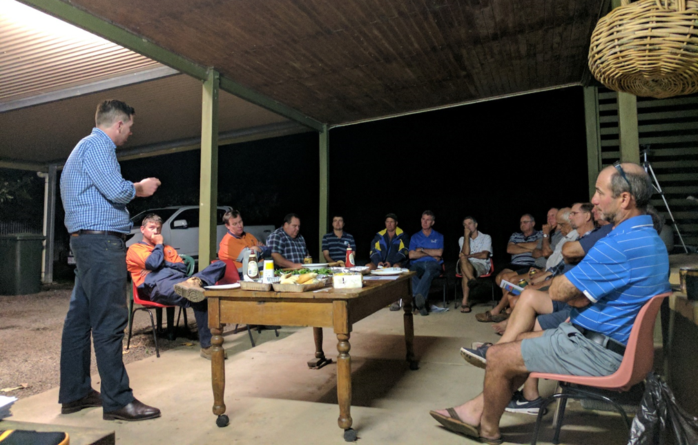 A recent Cane Changer meeting held at Dick Camilleri's farm
