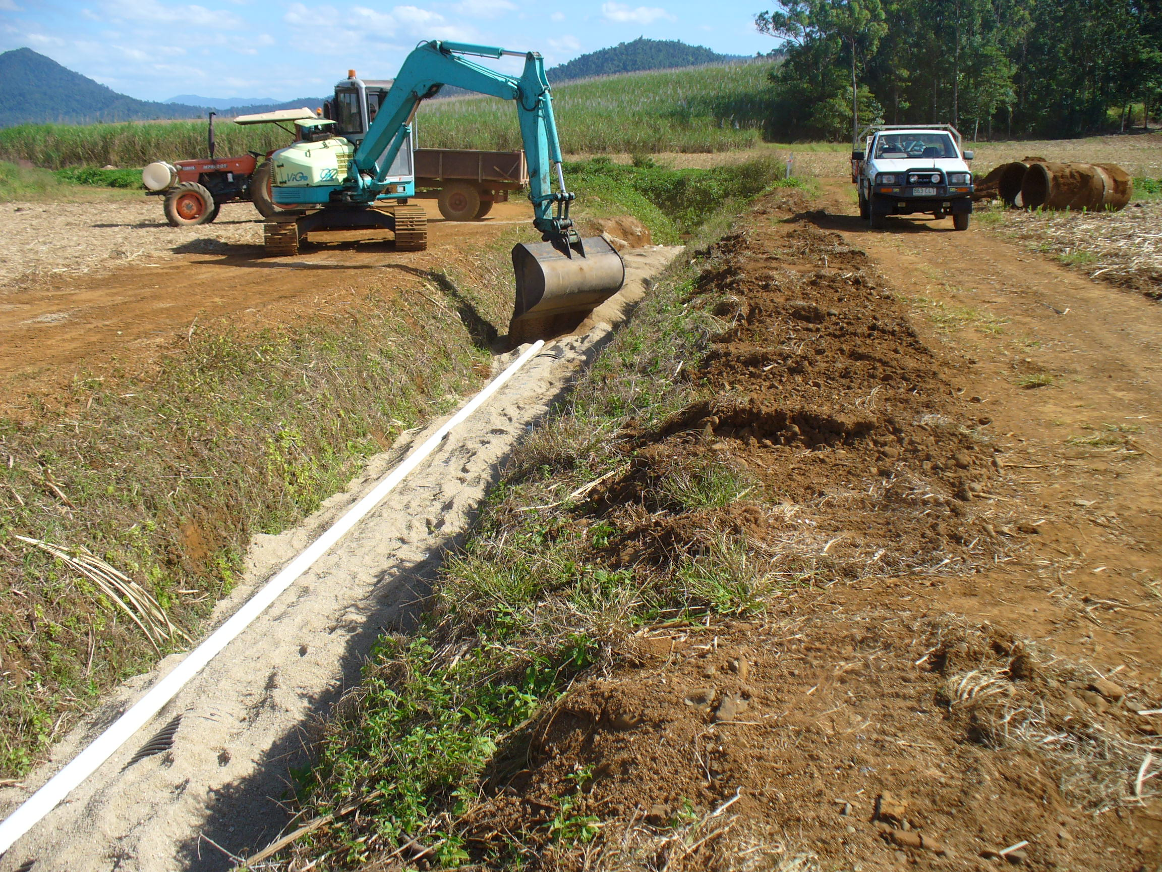 Building the drainage channel took a considerable amount of time and resources