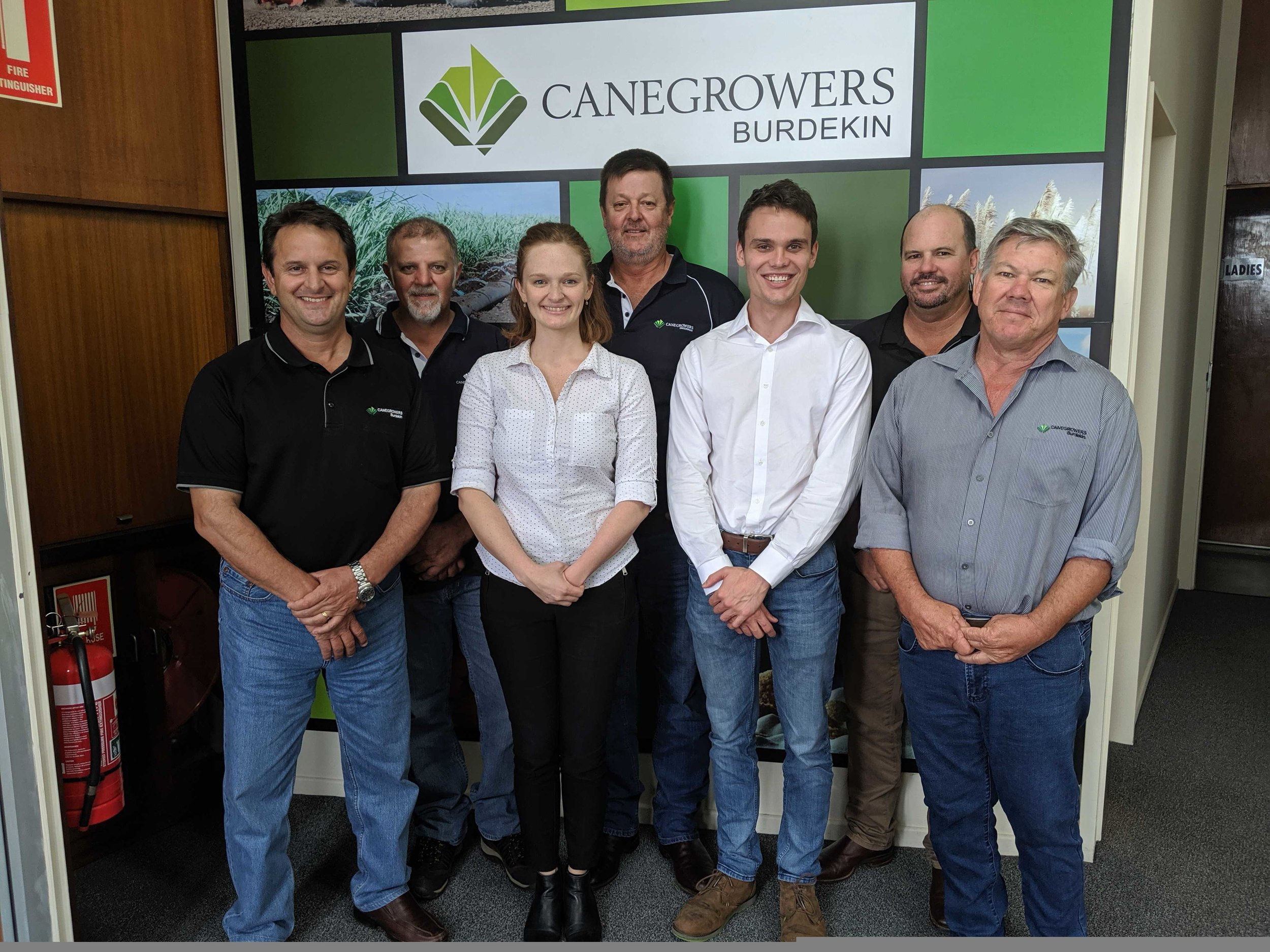 Cane Changer Team with CANEGROWERS Burdekin Board Representatives