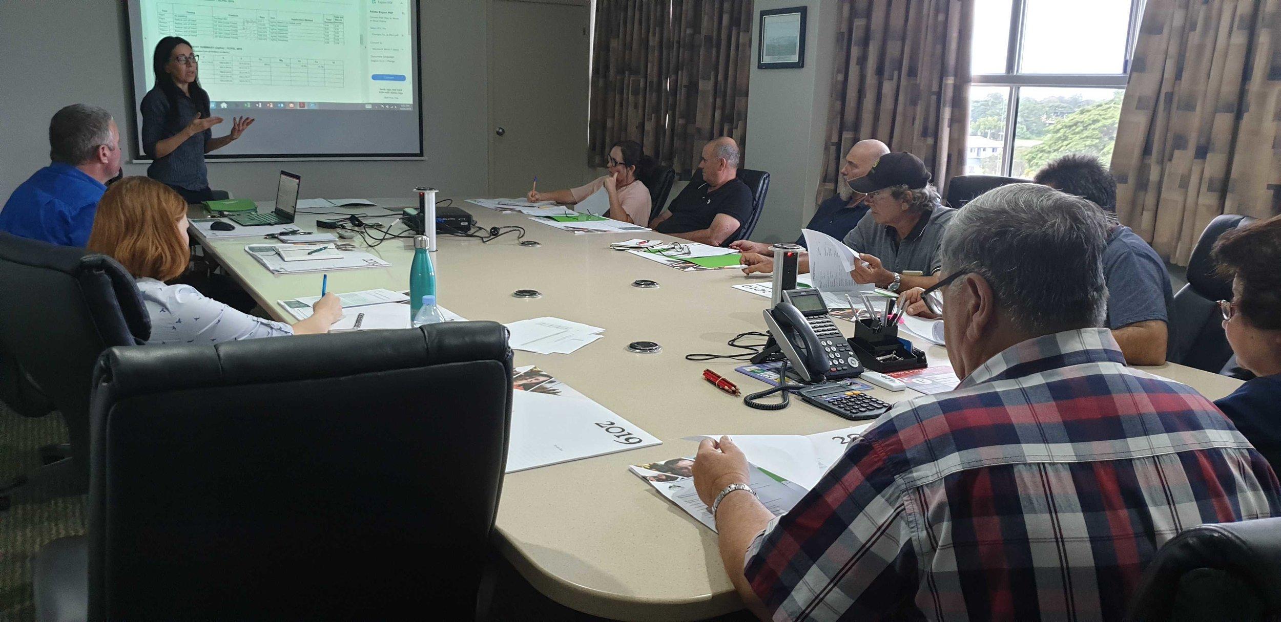 Recent record-keeping workshop held in the Herbert River sugarcane growing region
