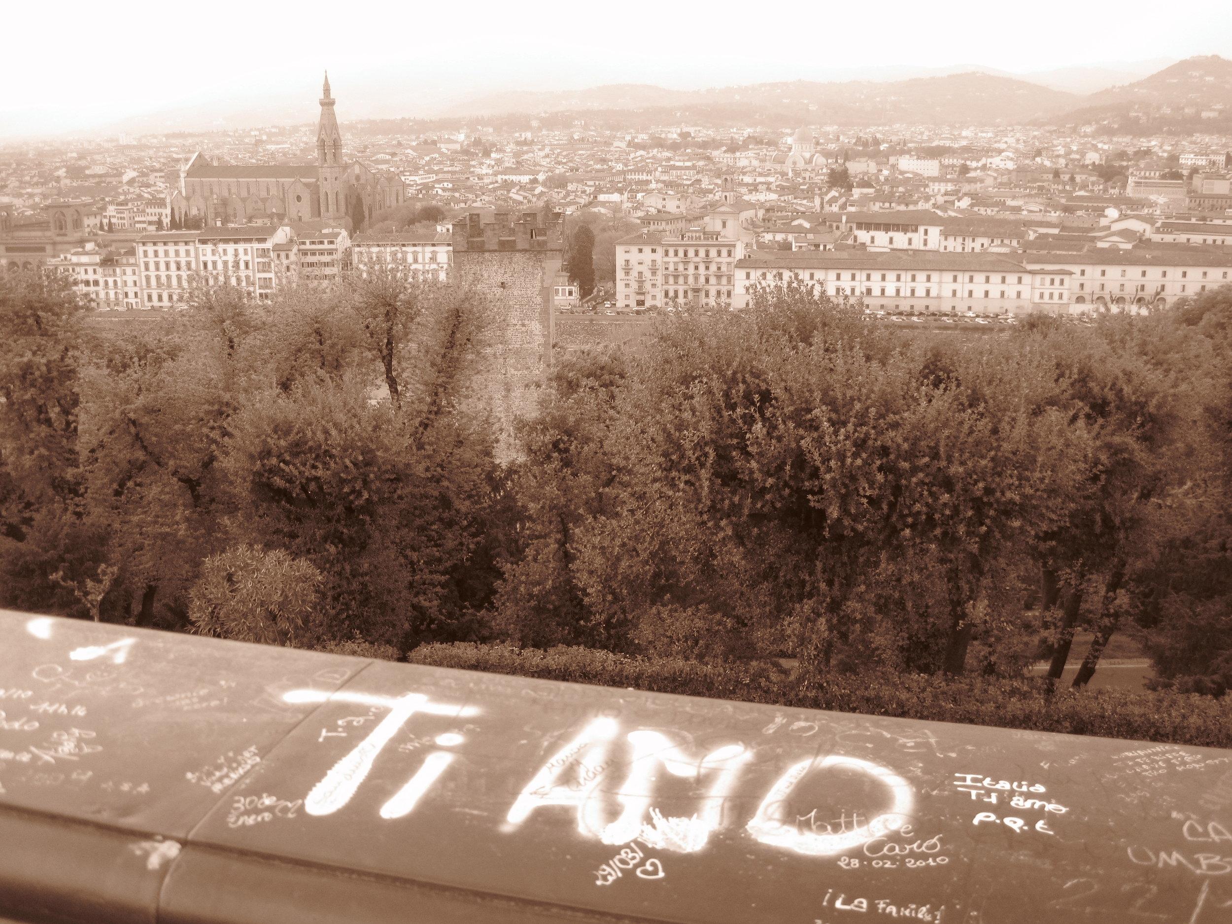 Ti Amo (I love you) - Piazzale Michelangelo