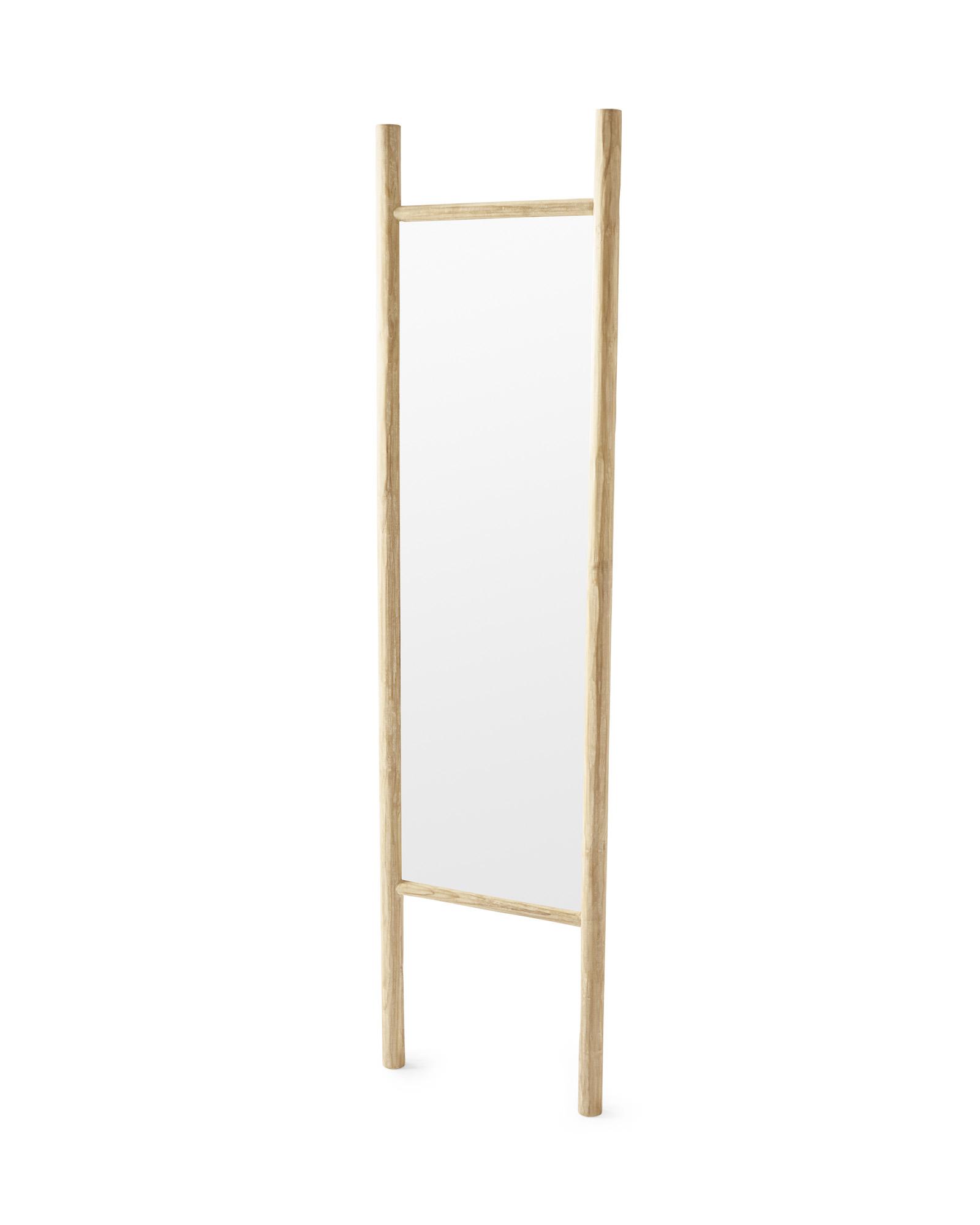 Teak Ladder Mirror