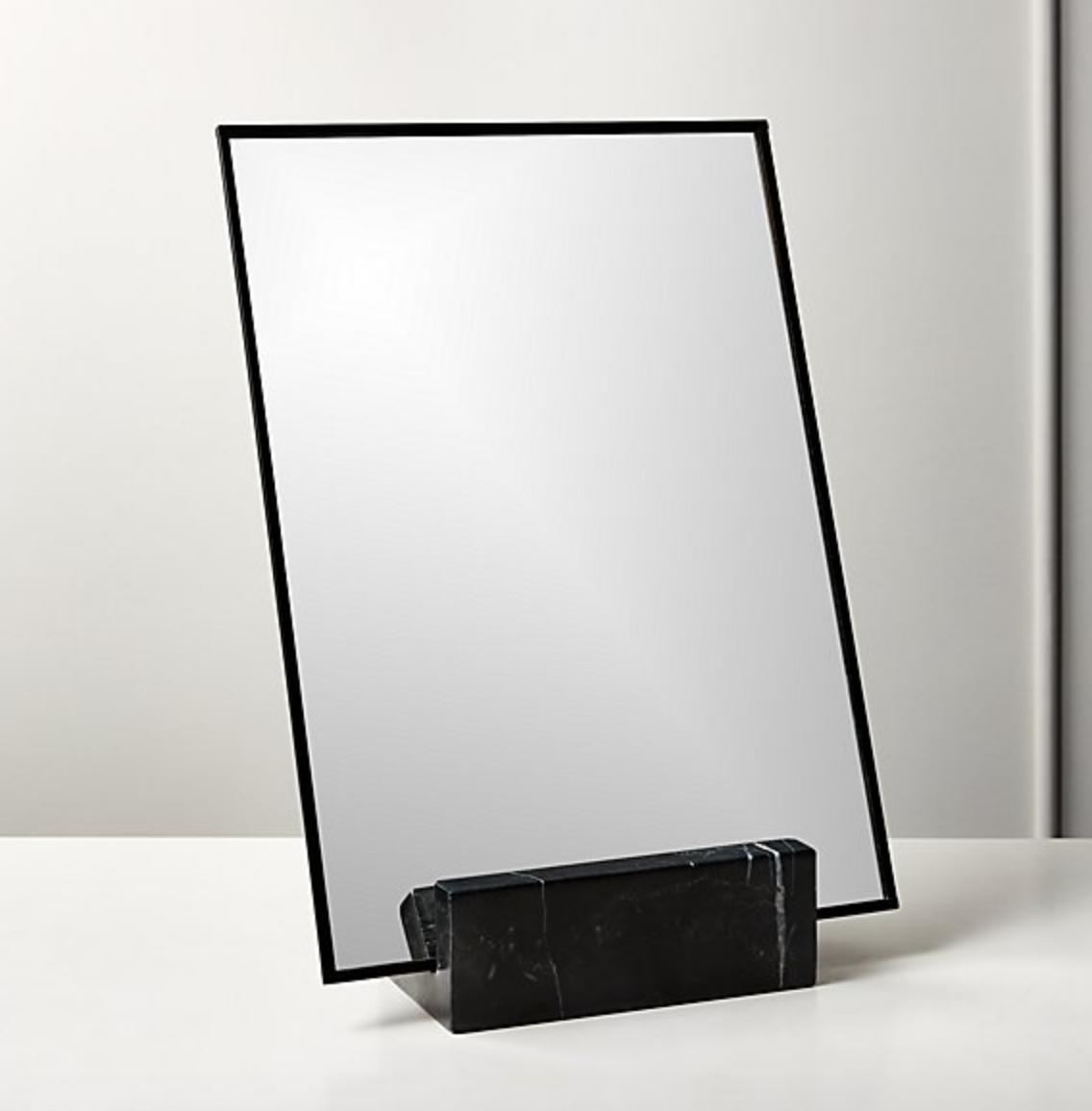 Black Marble Vanity Mirror